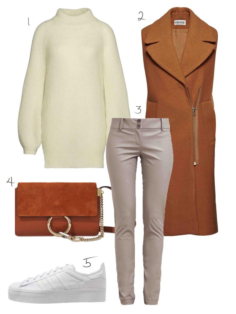 fashiioncarpet-outfit-lange-weste-plateau-sneaker-adidas-chloé-faye-small-braun