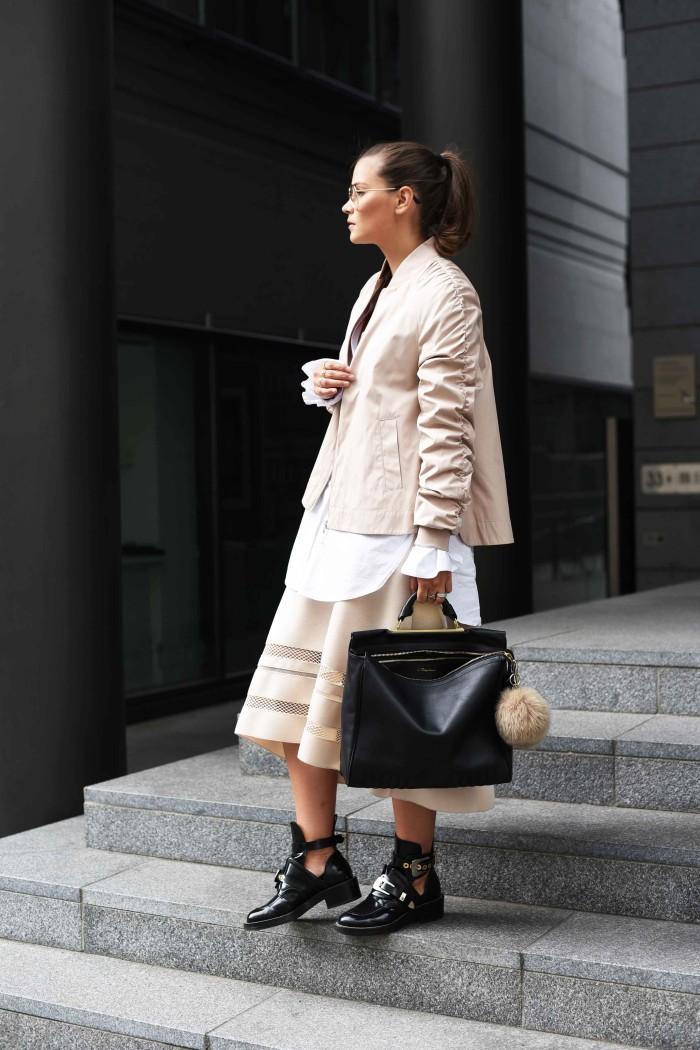 Outfit: Bomberjacke & Balenciaga Ceinture Boots I Berlin FW