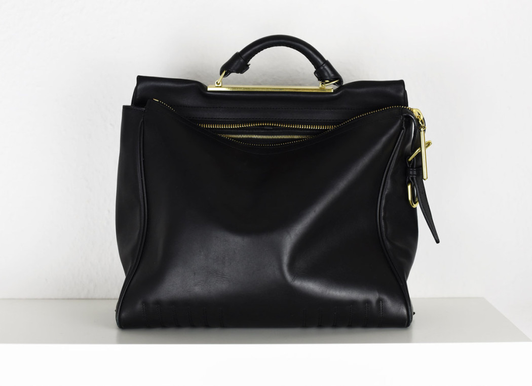 3.1-Phillip-Lim-Ryder-Satchel-Bag-black-golden Hardware-fashiioncarpet