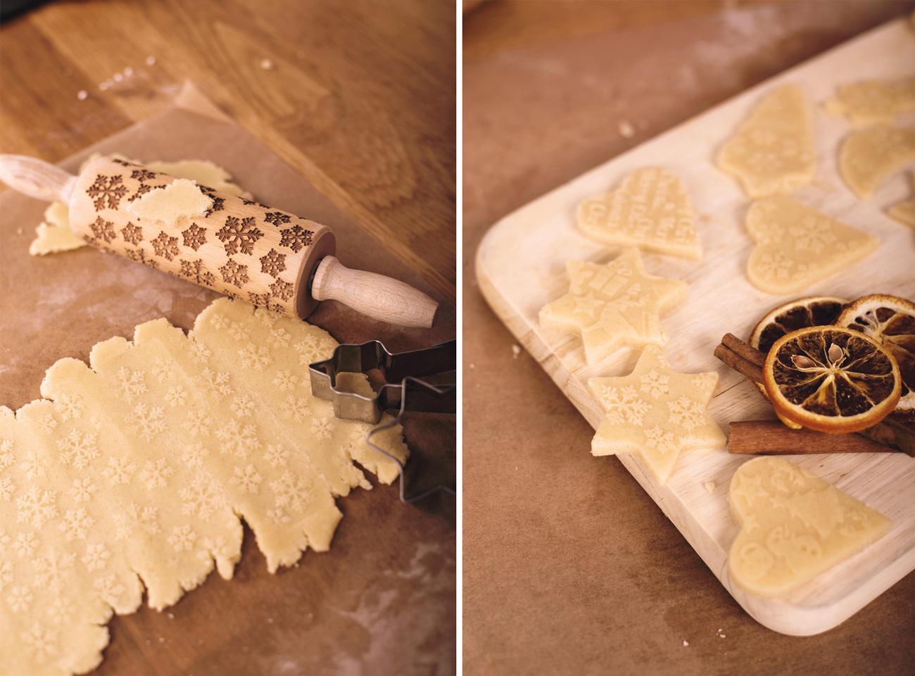 nudelholz mit muster zum kekse backen. Black Bedroom Furniture Sets. Home Design Ideas