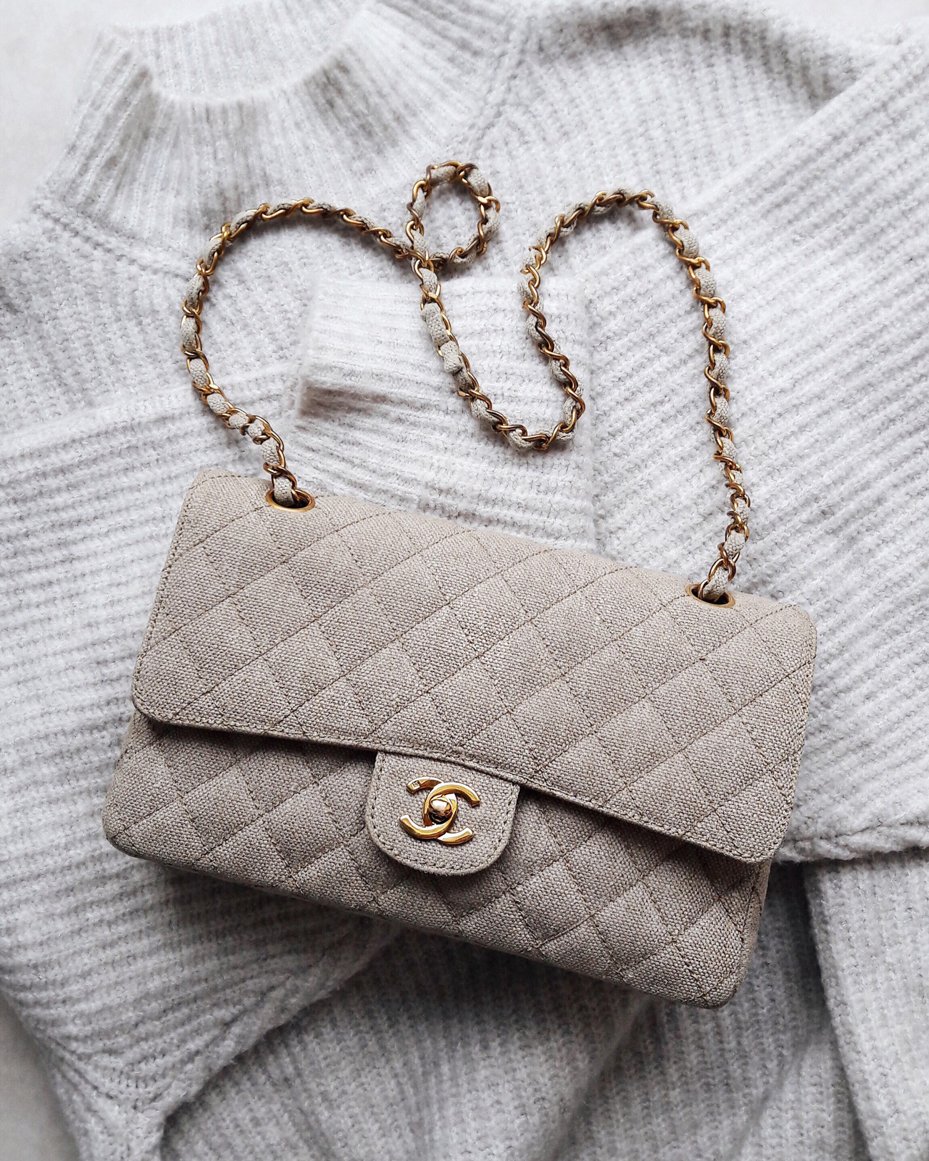 vintage-chanel-timeless-2.55-aus-stoff-canvas