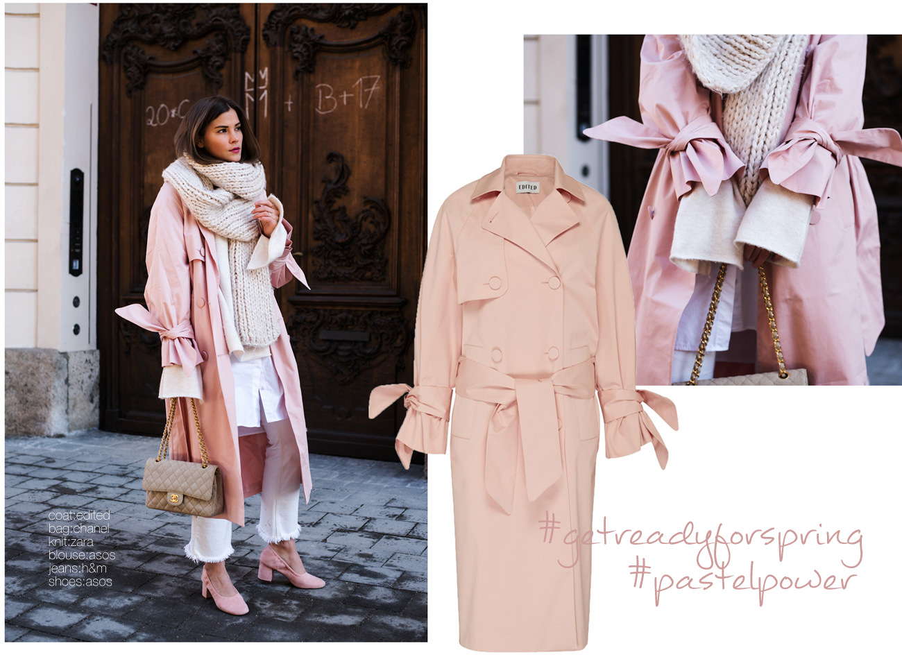 rosaner-trenchcoat-mit-trompetenärmeln-edited-the-label-blogger-it-piece-2017-chanel-2.55-stoff-fashiioncarpet