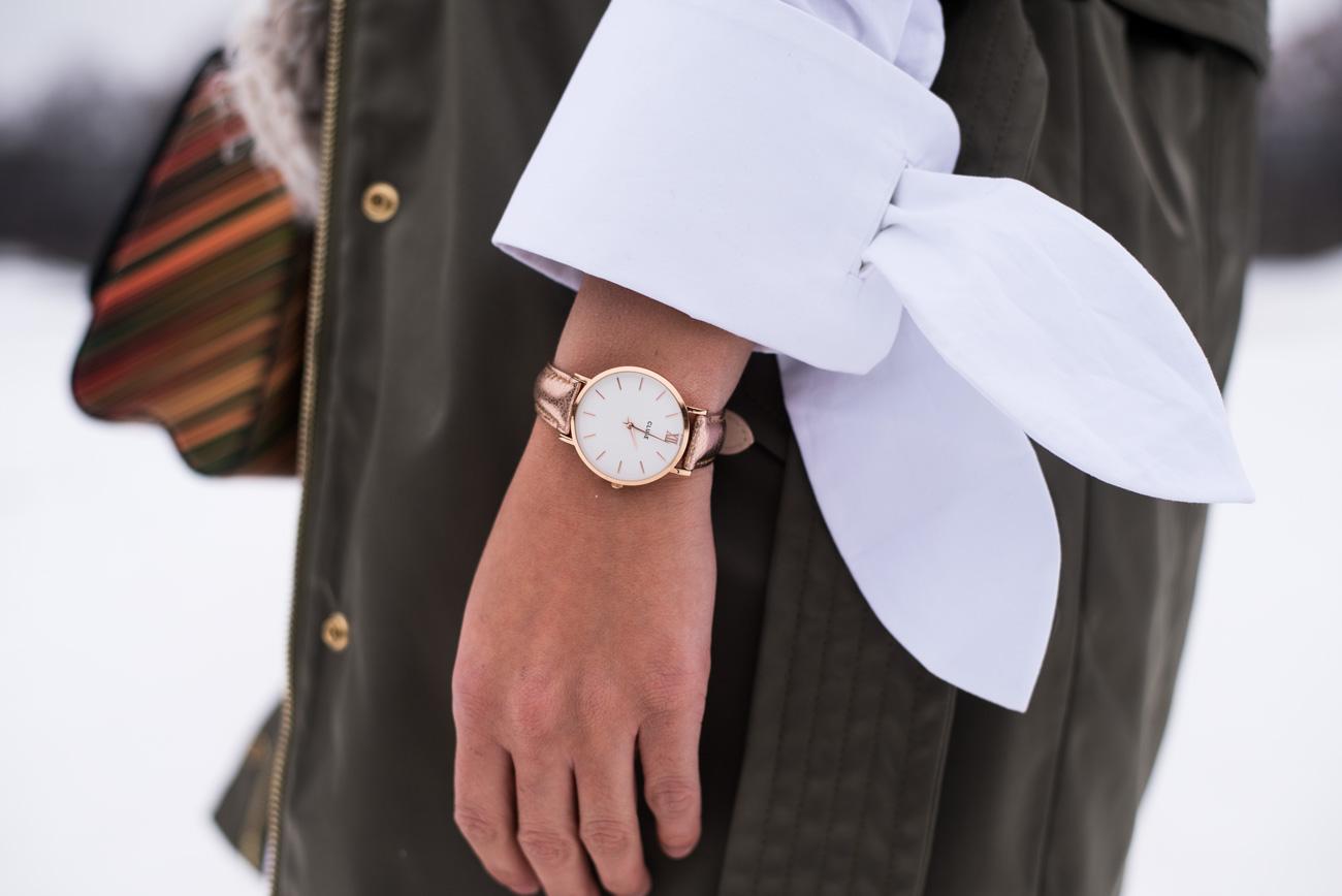 Cluse-Rosé-Minuit Metallic-watch-fashiioncarpet