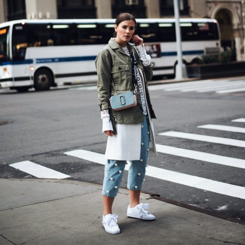 outfit new york fashion week streetstyle w puma basket. Black Bedroom Furniture Sets. Home Design Ideas