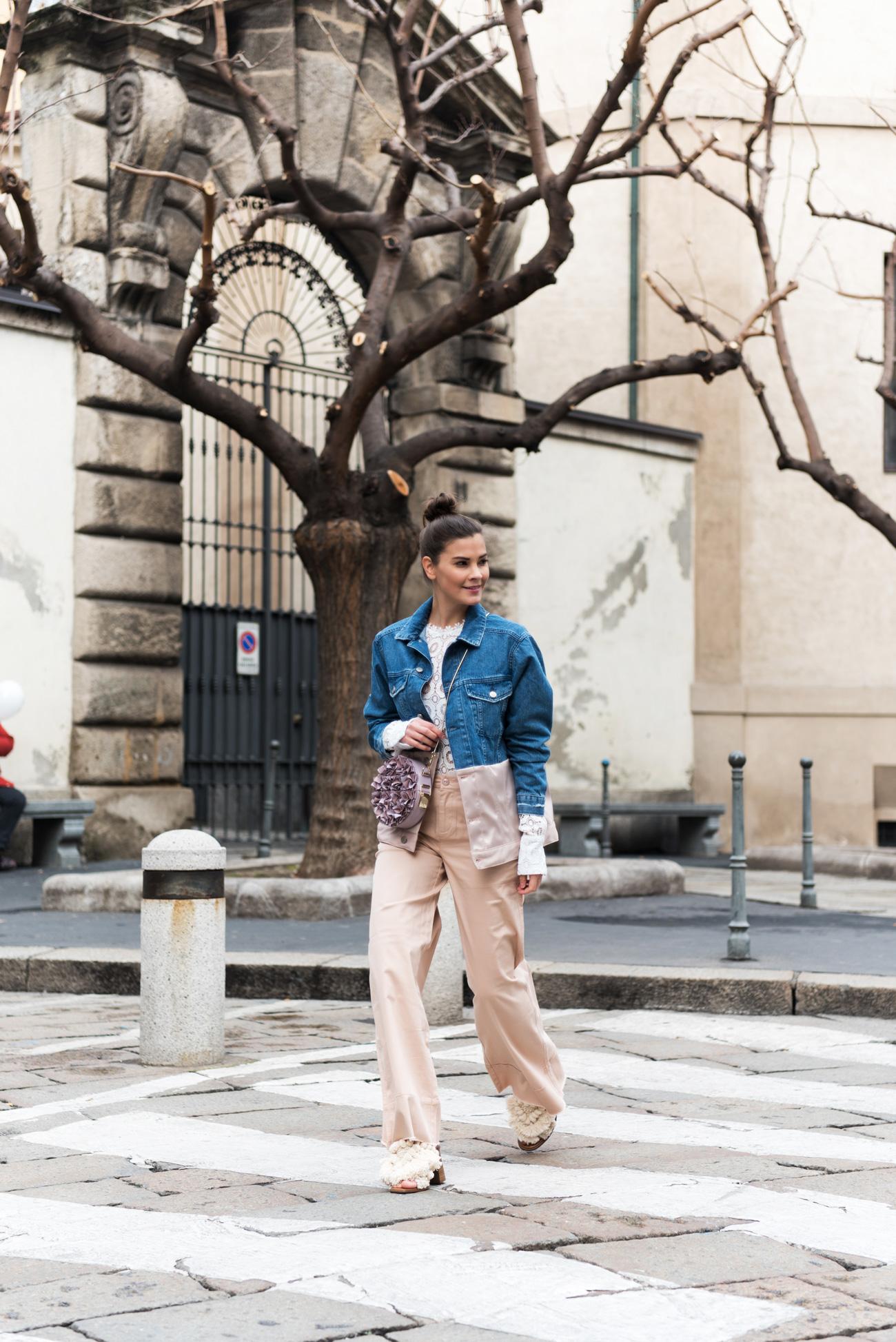 Outfit Zara Pom Pom Sandalen Amp Aigner Tonda Firoe Bag