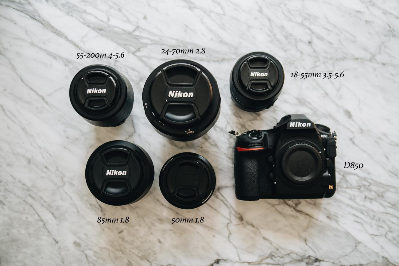 Kamera Ausstattung Nikon D850 mit Objektiven