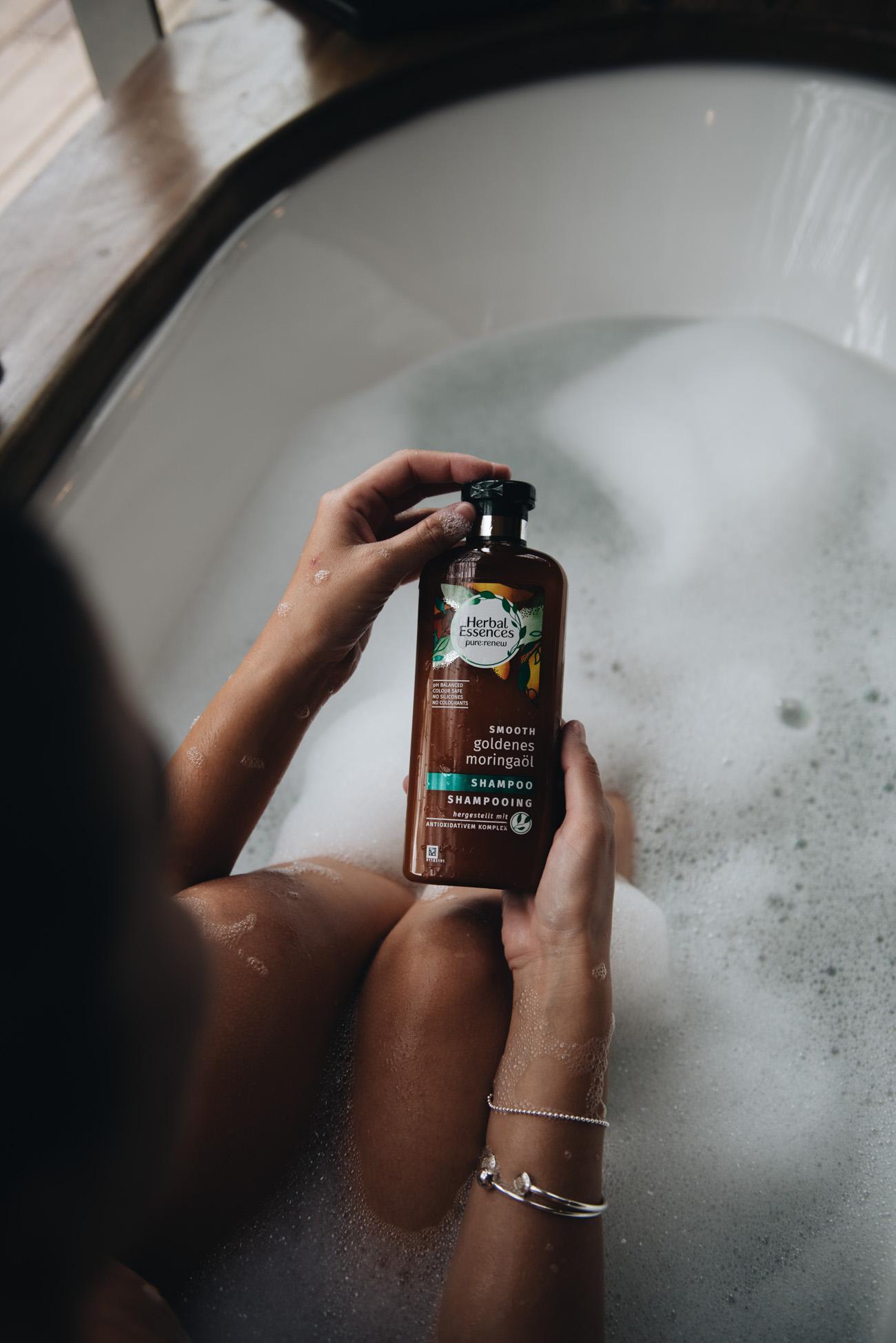 herbal-essences-shampoo-pure-renew-linie-GOLDENES-MORINGAÖL SHAMPOO-neu-2017-test-erfahrung-fashiioncarpet-nina-schwichtenberg