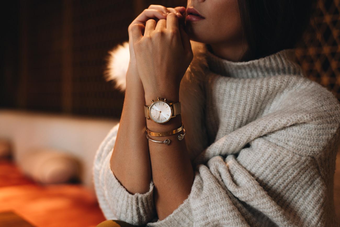 kronaby-damen-uhr-smart-watch-connected-uhren-gold-mesh-armband-test-fashiioncarpet-nina-schwichtenberg