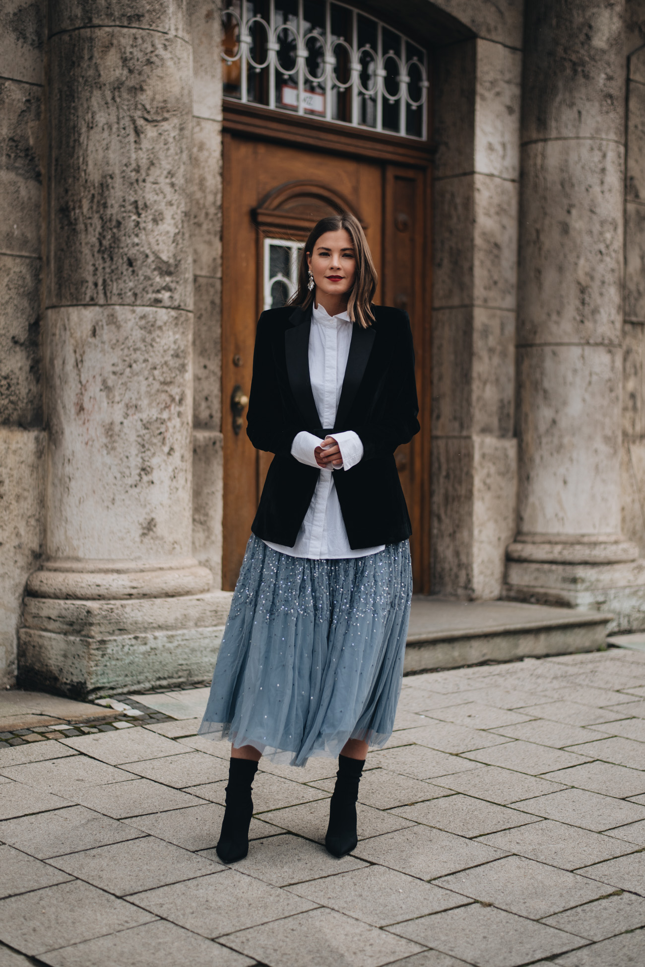 Silvester Outfit Samt Blazer Amp Sock Boots Mit T 252 Ll