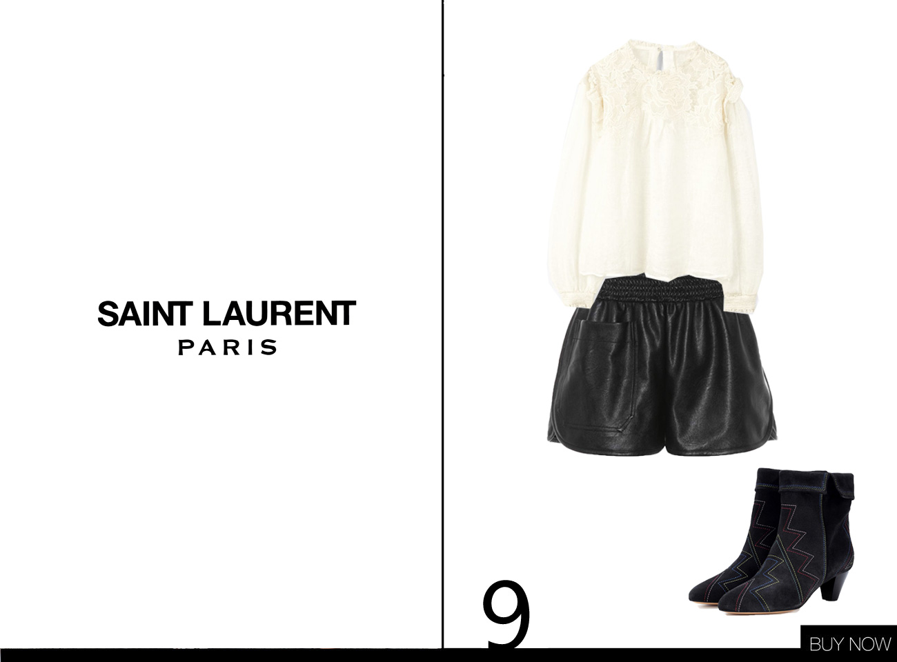 Saint Laurent Herbst Winter Kollektion 18/19 nachgestylt