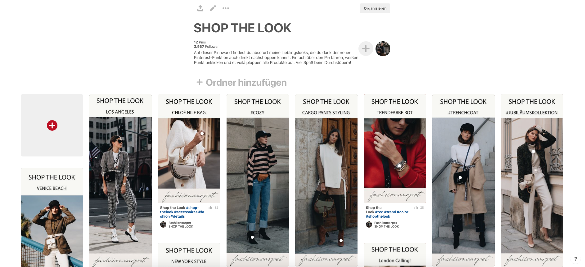 Shop the Look Funktion Pinterest