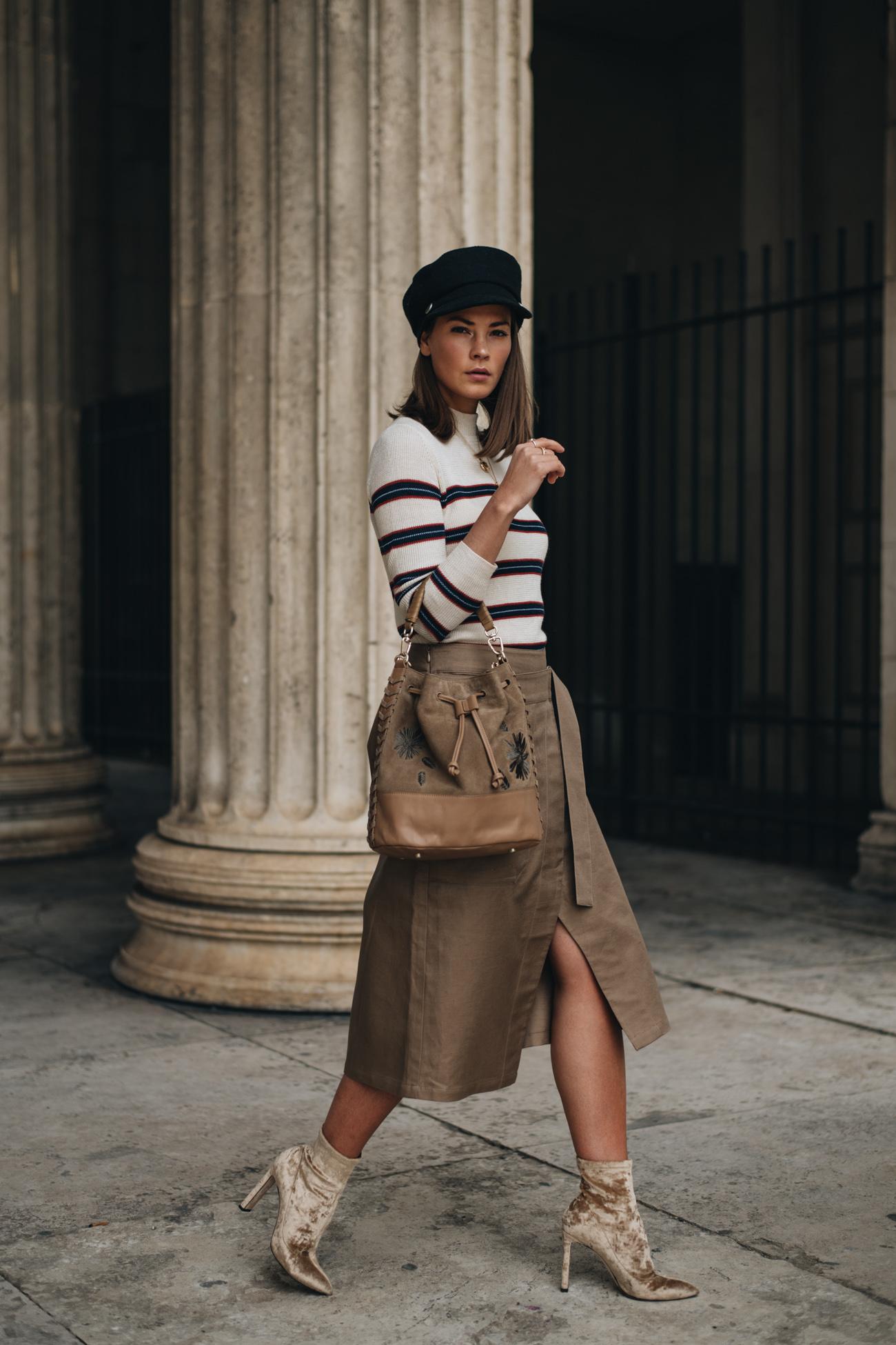 Sommer Outfit mit Schlitz Rock