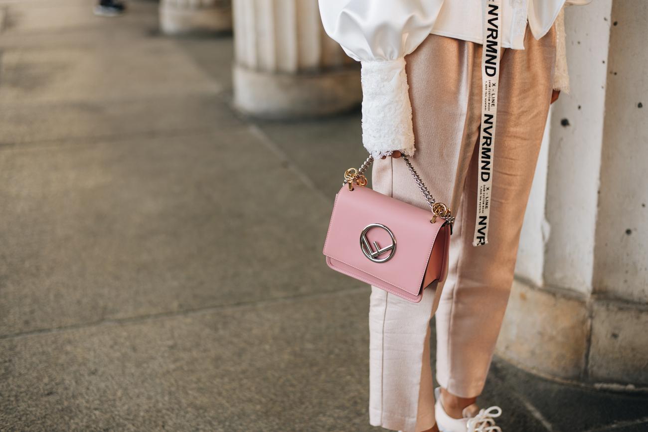 rosa Fendi Kan Mini Handtasche