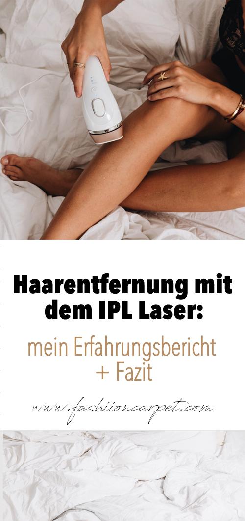 Haarentfernung mit dem Braun IPL Laser