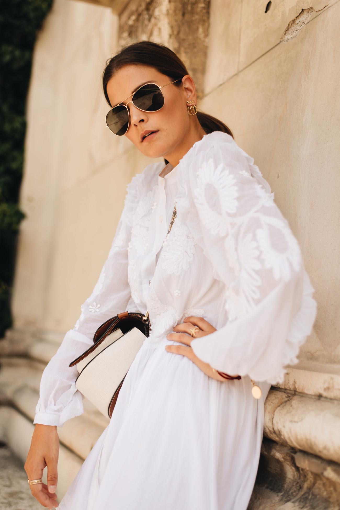 weißes Sommerkleid von Michael Kors