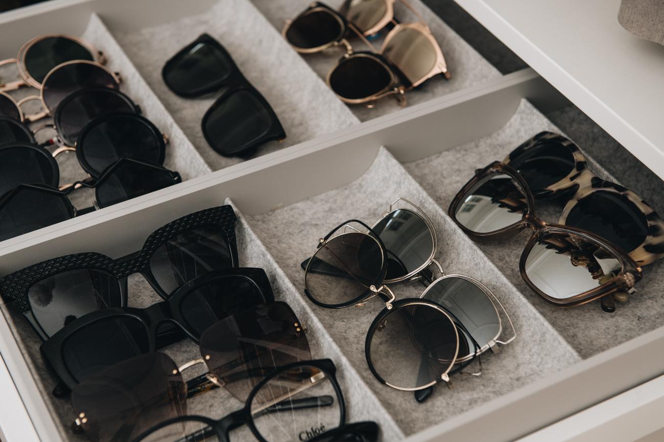 Aufbewahrung Sonnenbrillen