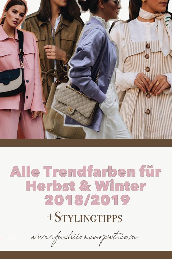 Alle Trendfarben für Herbst & Winter 2018/2019