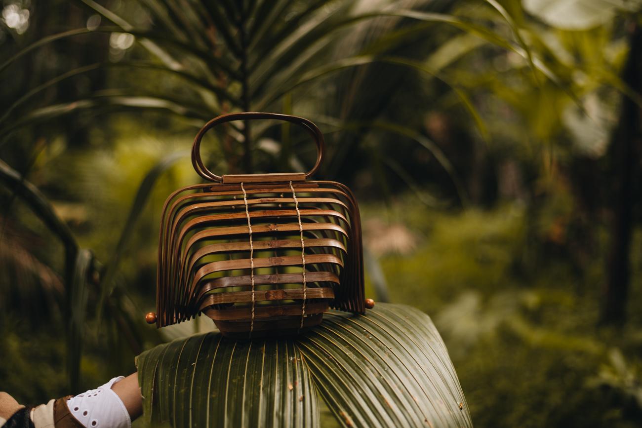 Handtasche aus Bambus
