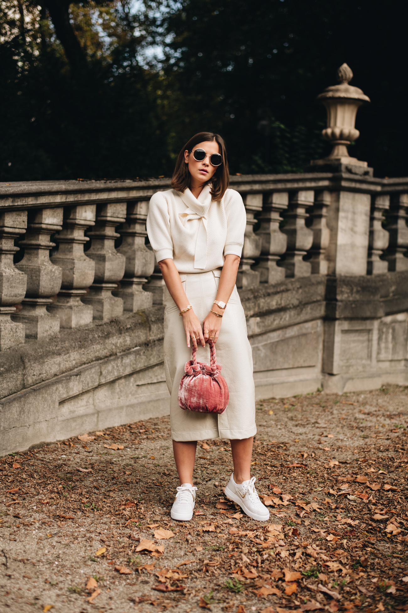 Beige All-Over Hebst Outfit