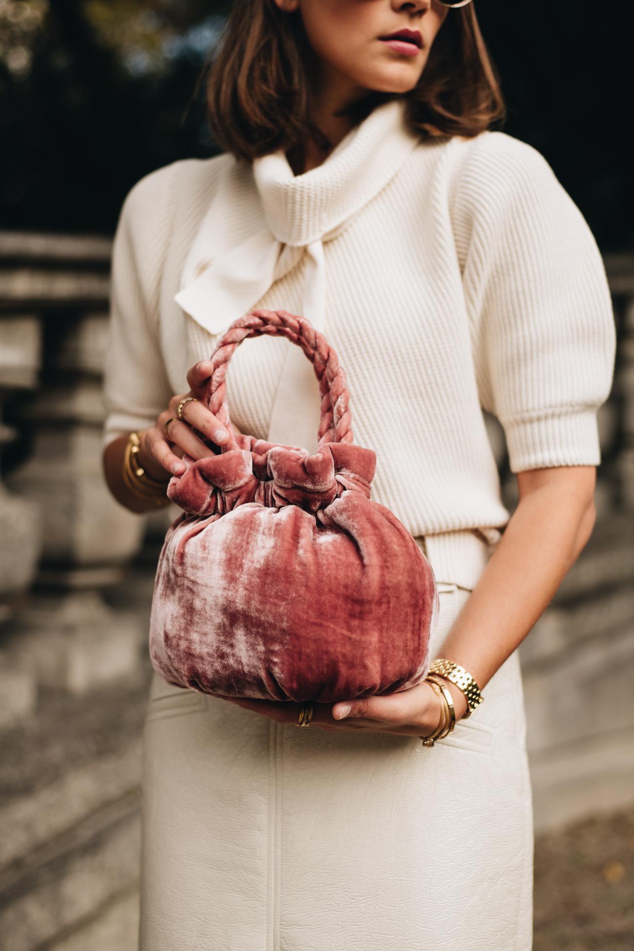 Beutel Samt Handtasche