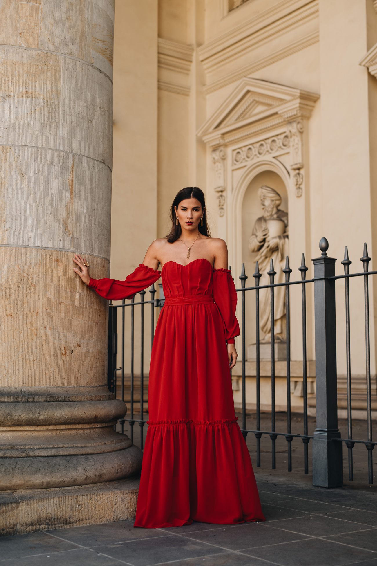 Aigner Kleid rot