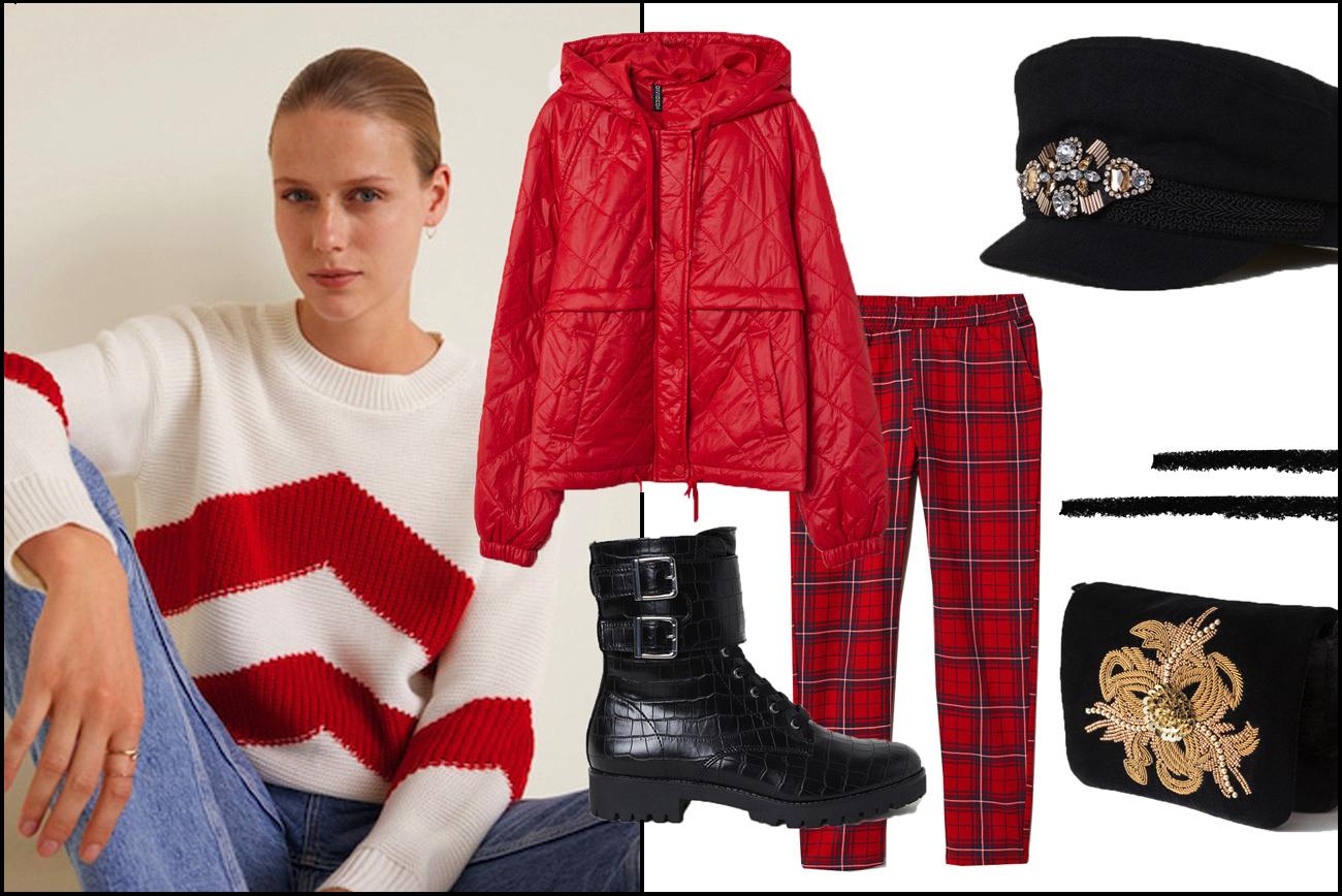 Outfit mit Daunenjacke