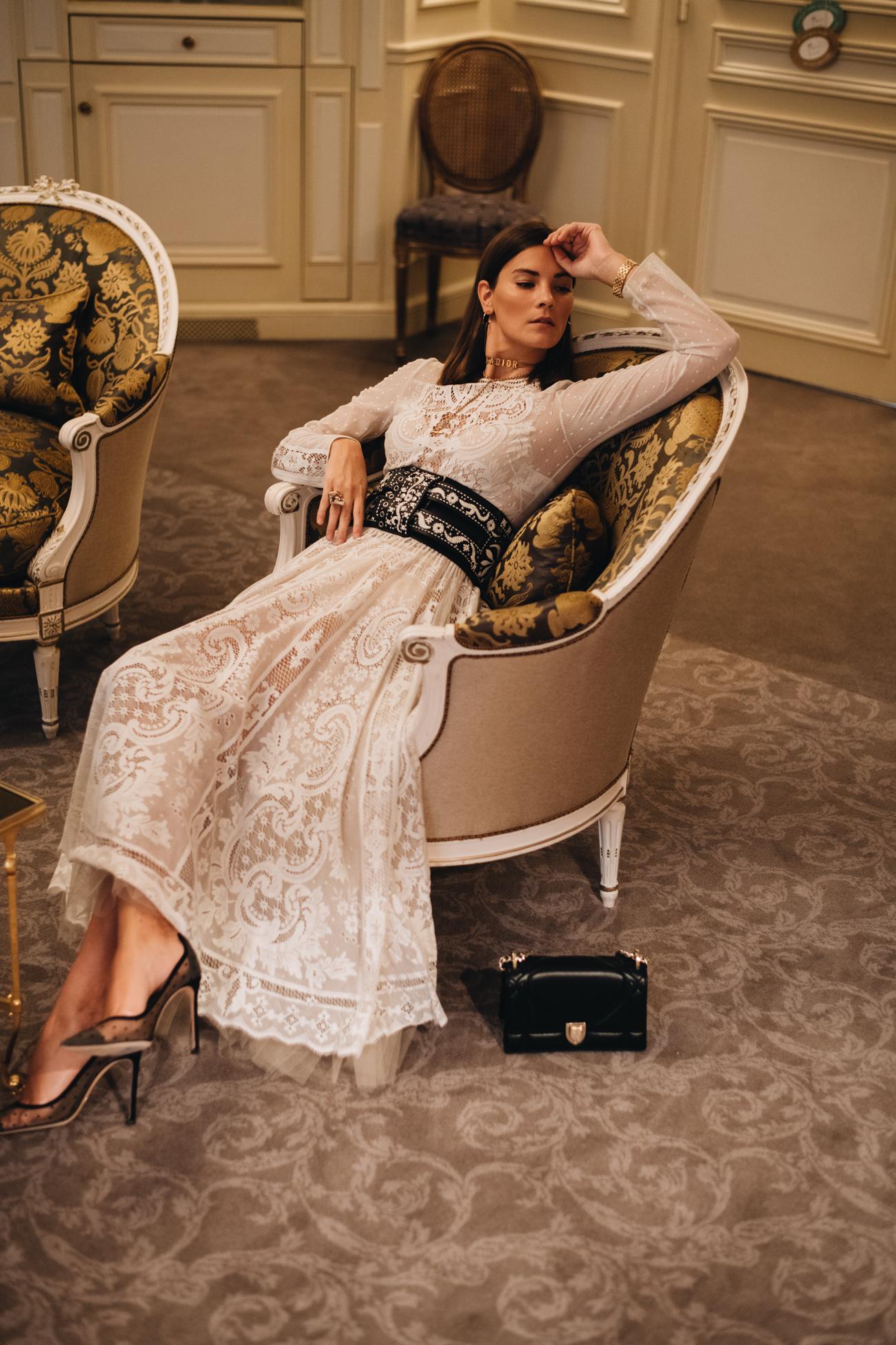 Dior weißes Sommerkleid Spring Summer 2018