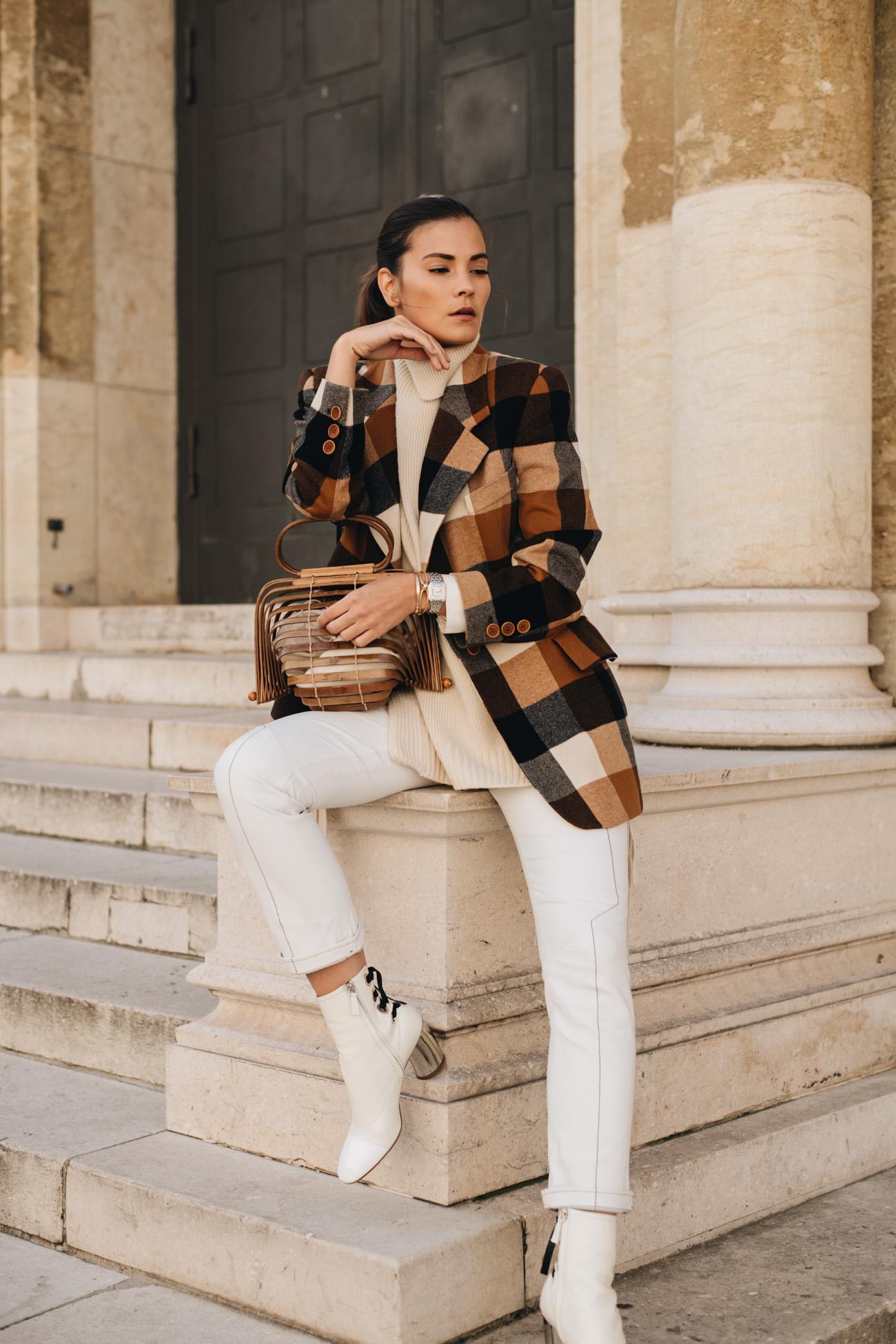 Herbst Outfit mit Wollblazer