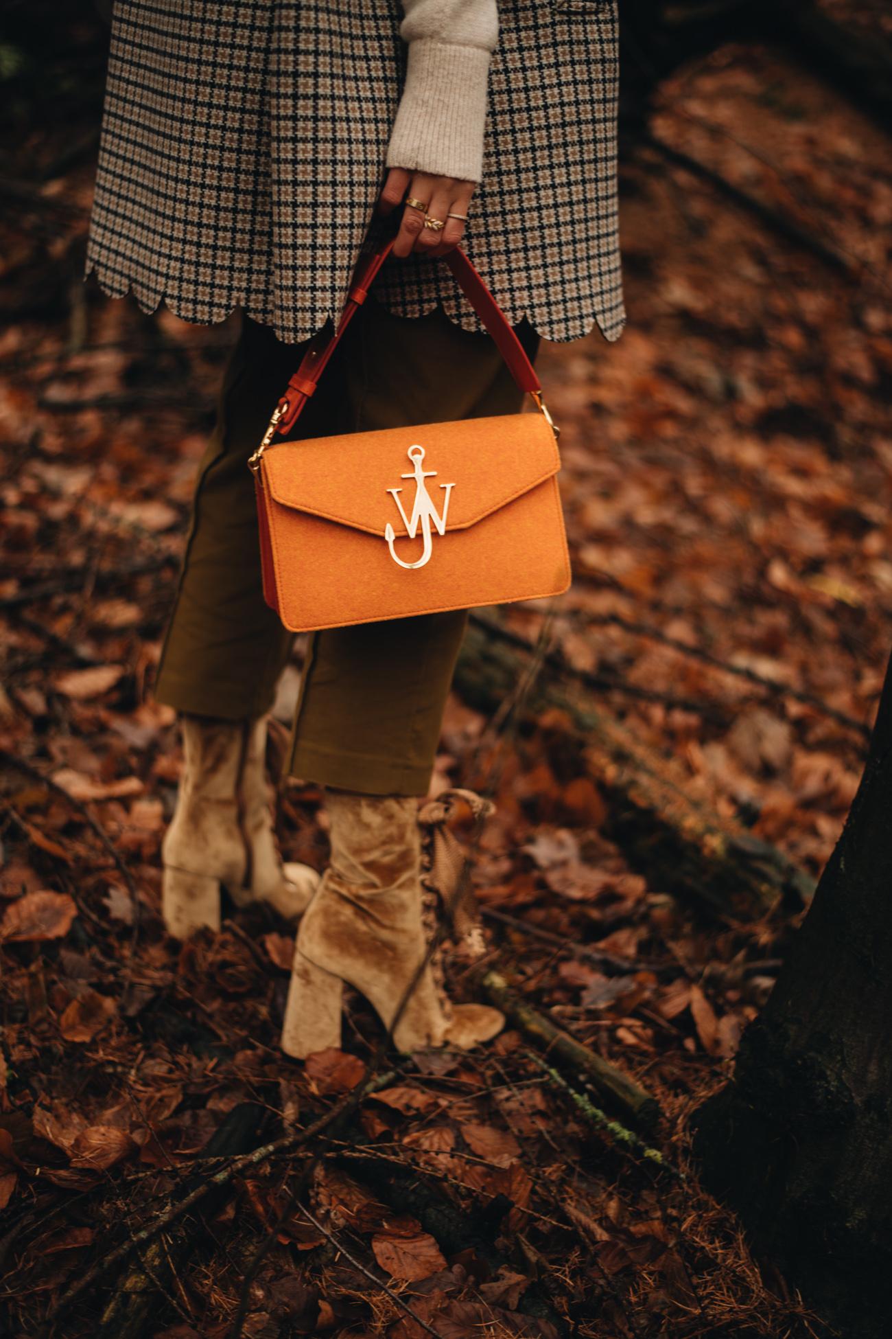 Orangene JW Anderson Filz Tasche