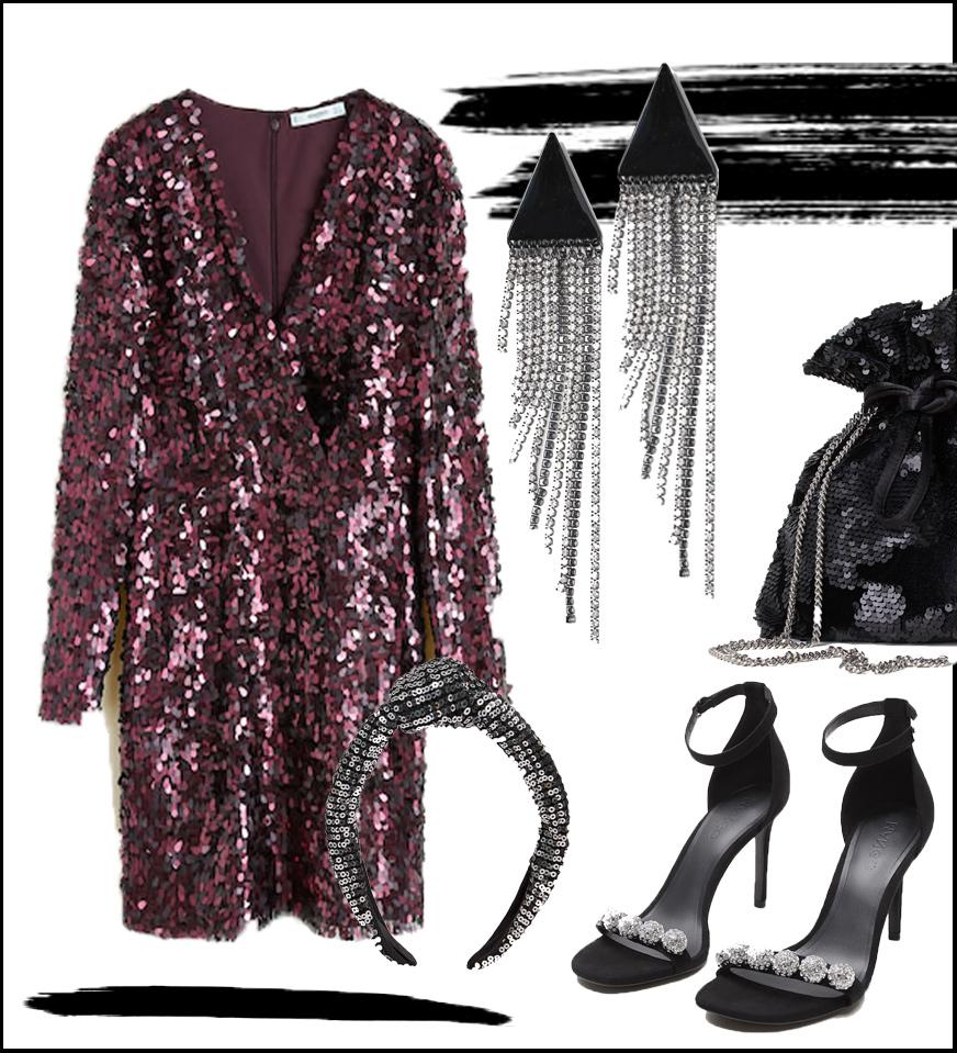 Pinkes Pailletten Kleid