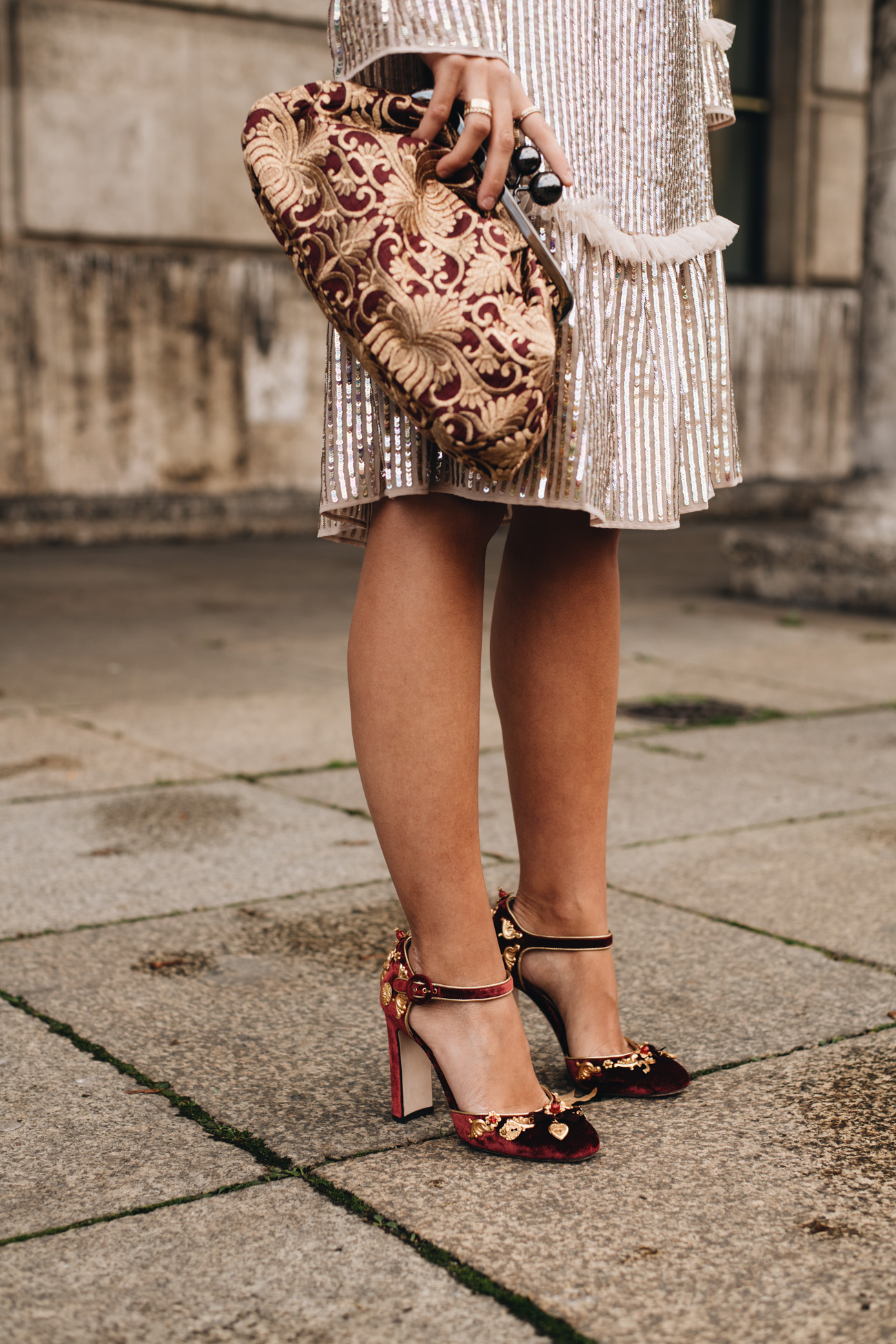 Dolce & Gabbana Samt Pumps