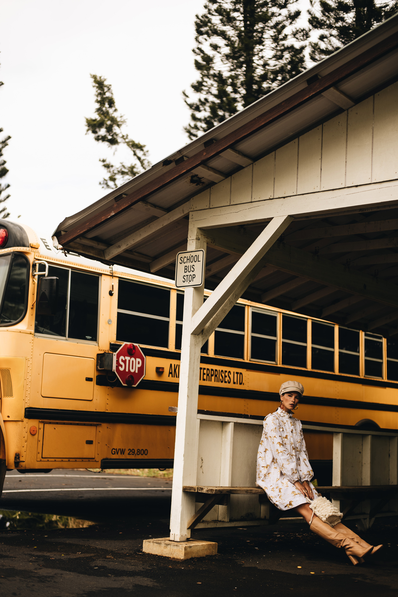Foto Shooting amerikanischer Schulbus