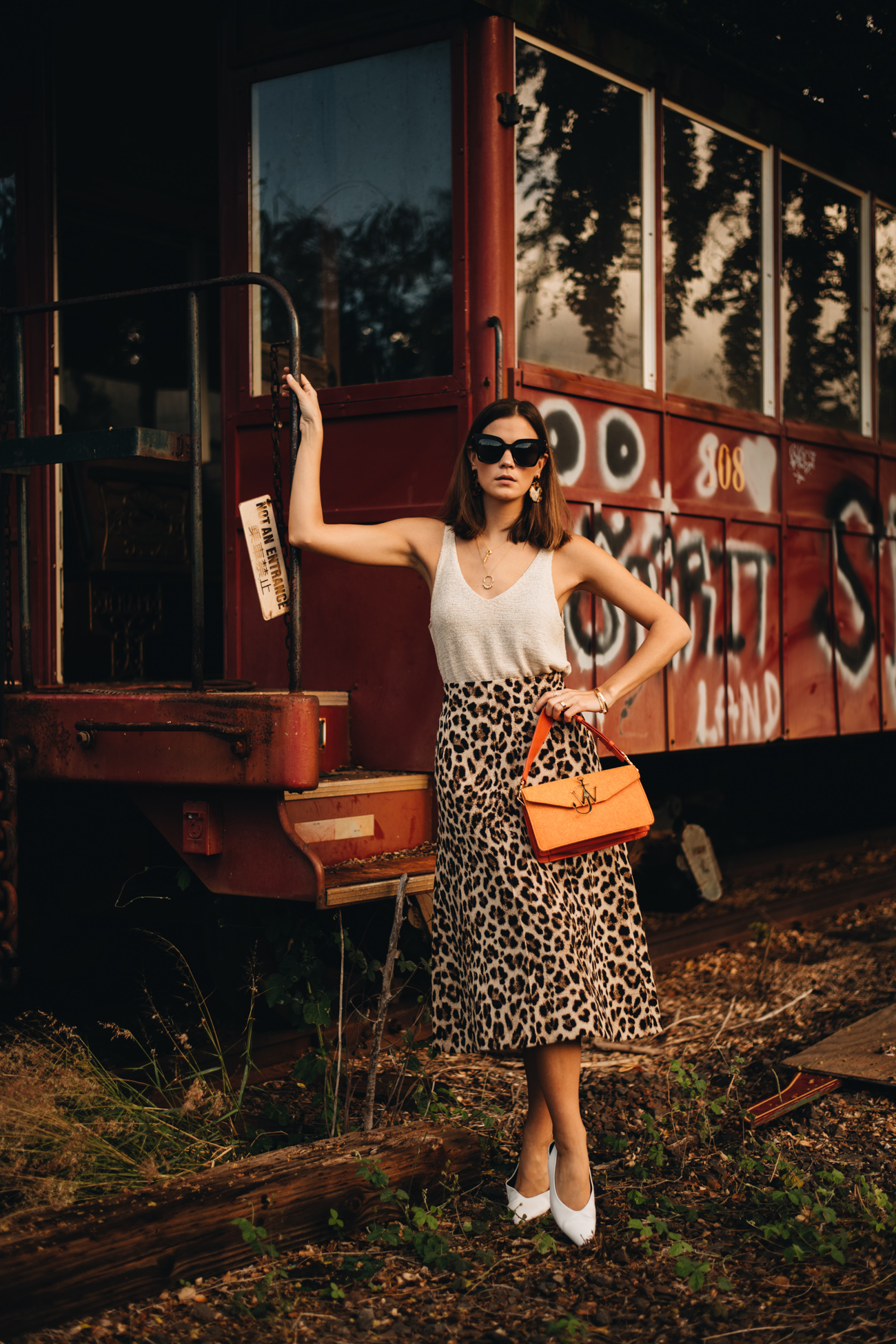 Sommer Outfit mit Leoparden Rock