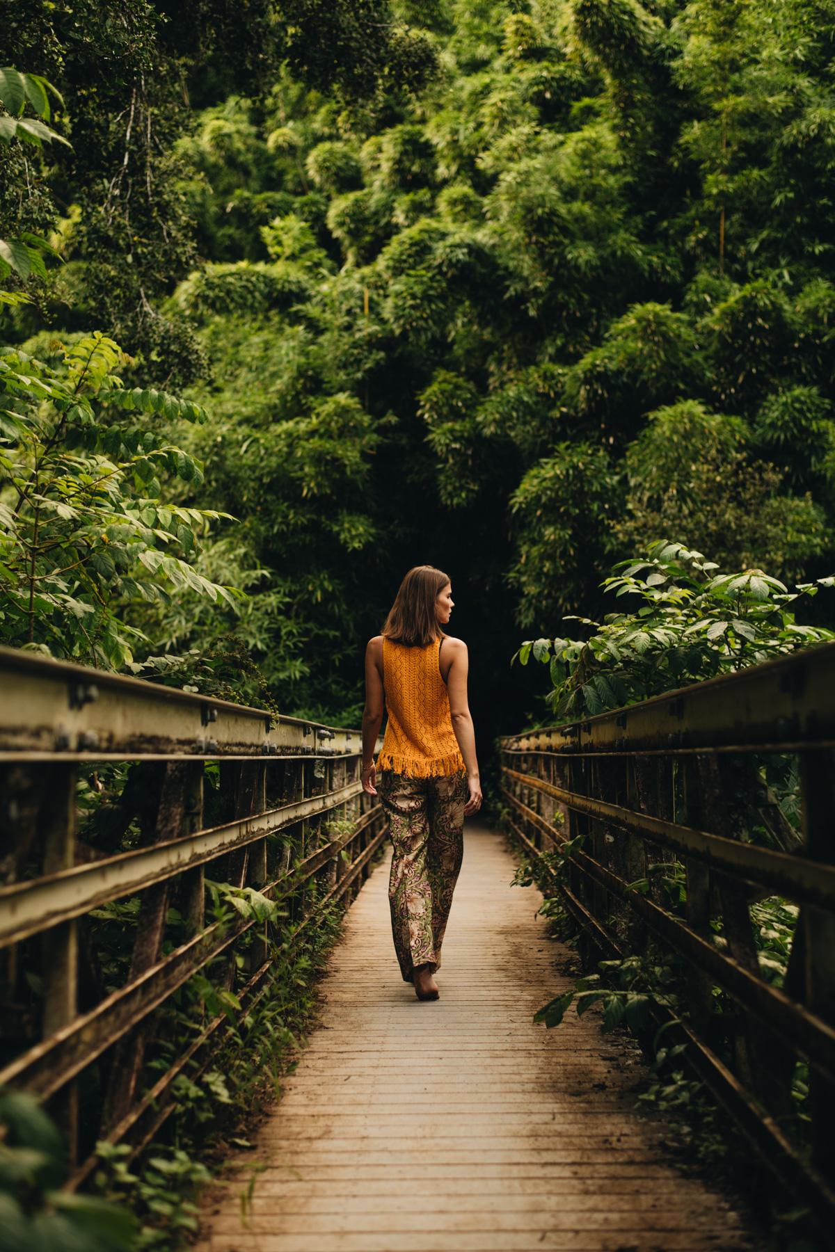 Road to Hana Haleakala National Park Kipahulu Bridge bamboo forest
