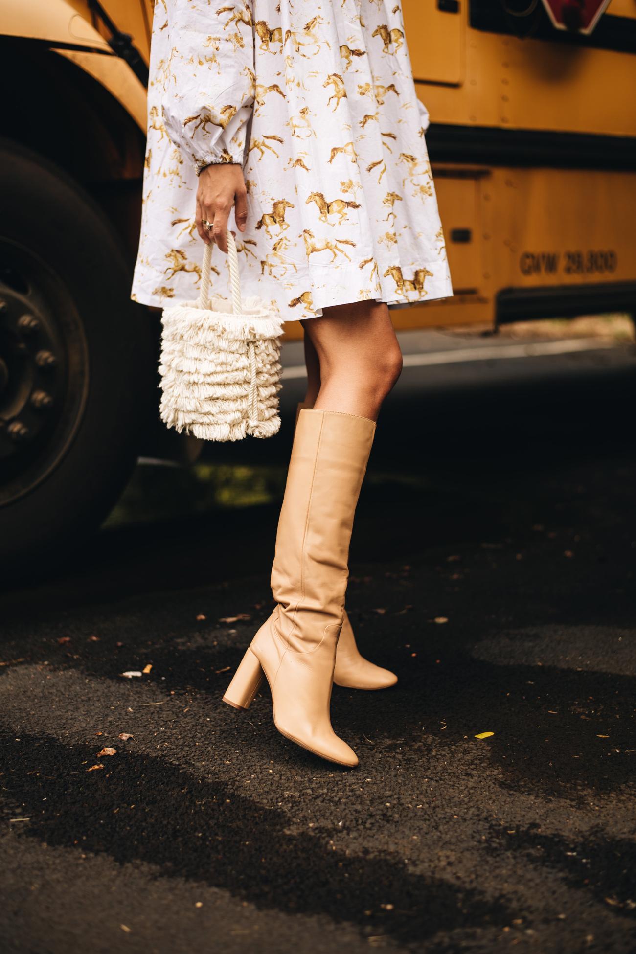 Beige Stiefel von Zara