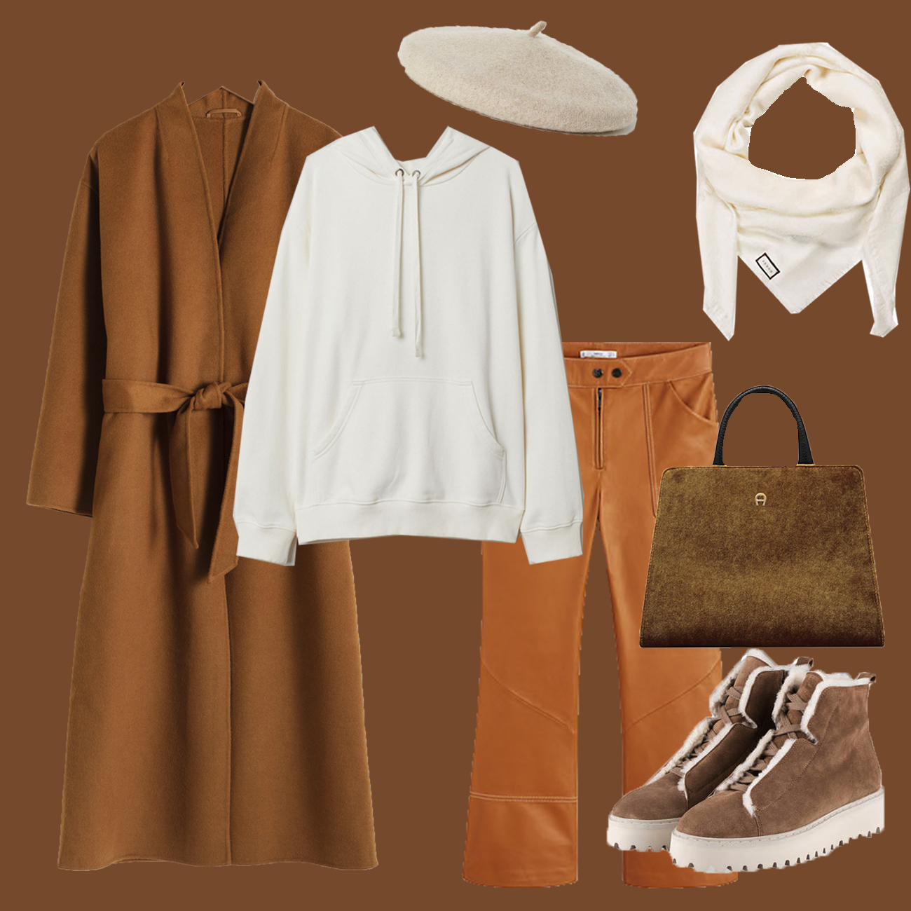 Winter Look mit Camel Coat