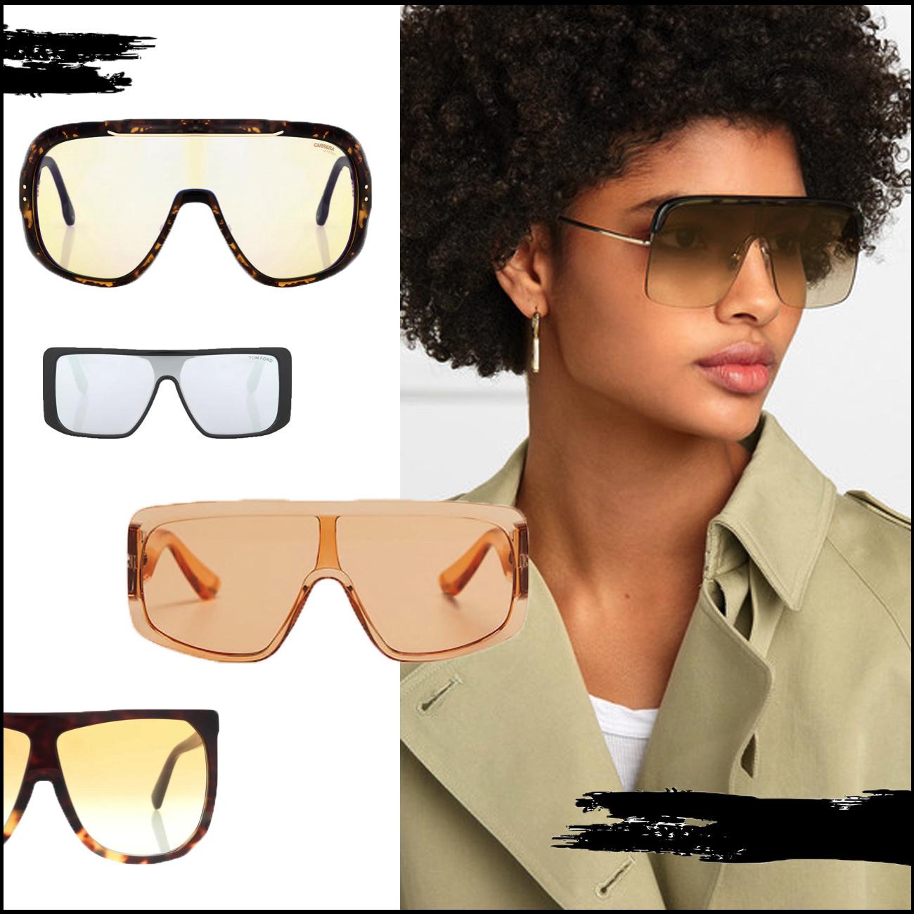 Accessoire Trend 2019 Shield Sonnebrillen