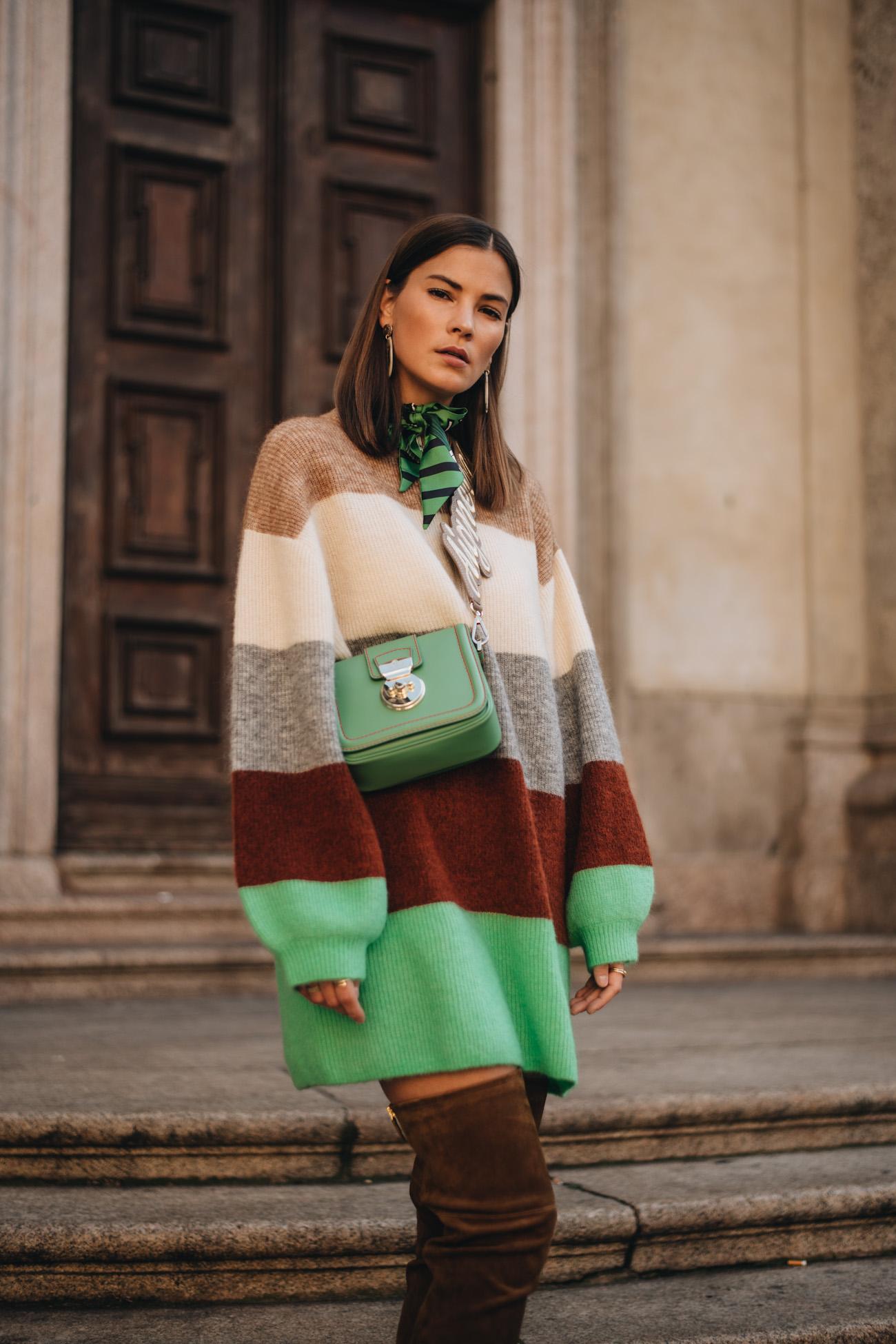 Aigner Gala Tasche in Grün