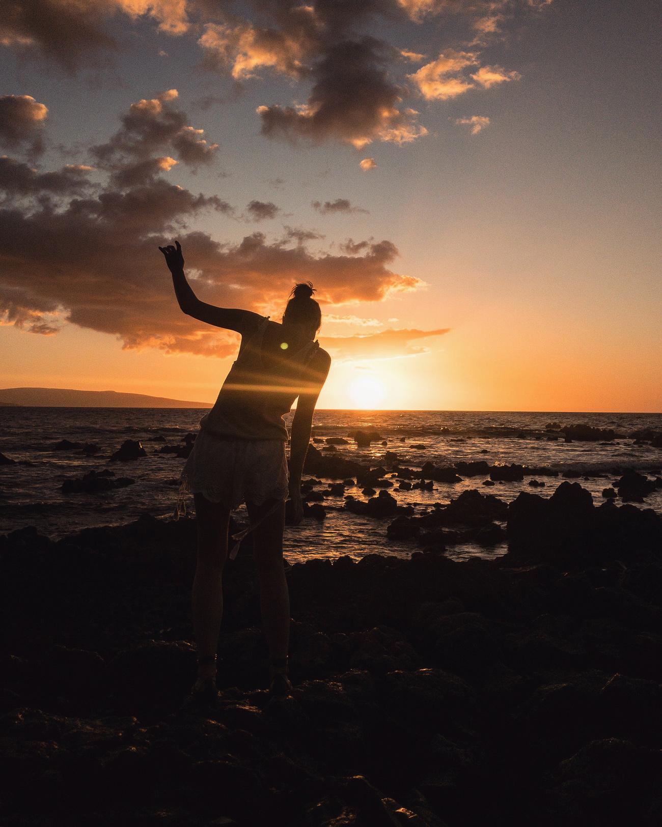 Maui Hawaii Strände für Sonnenuntergang