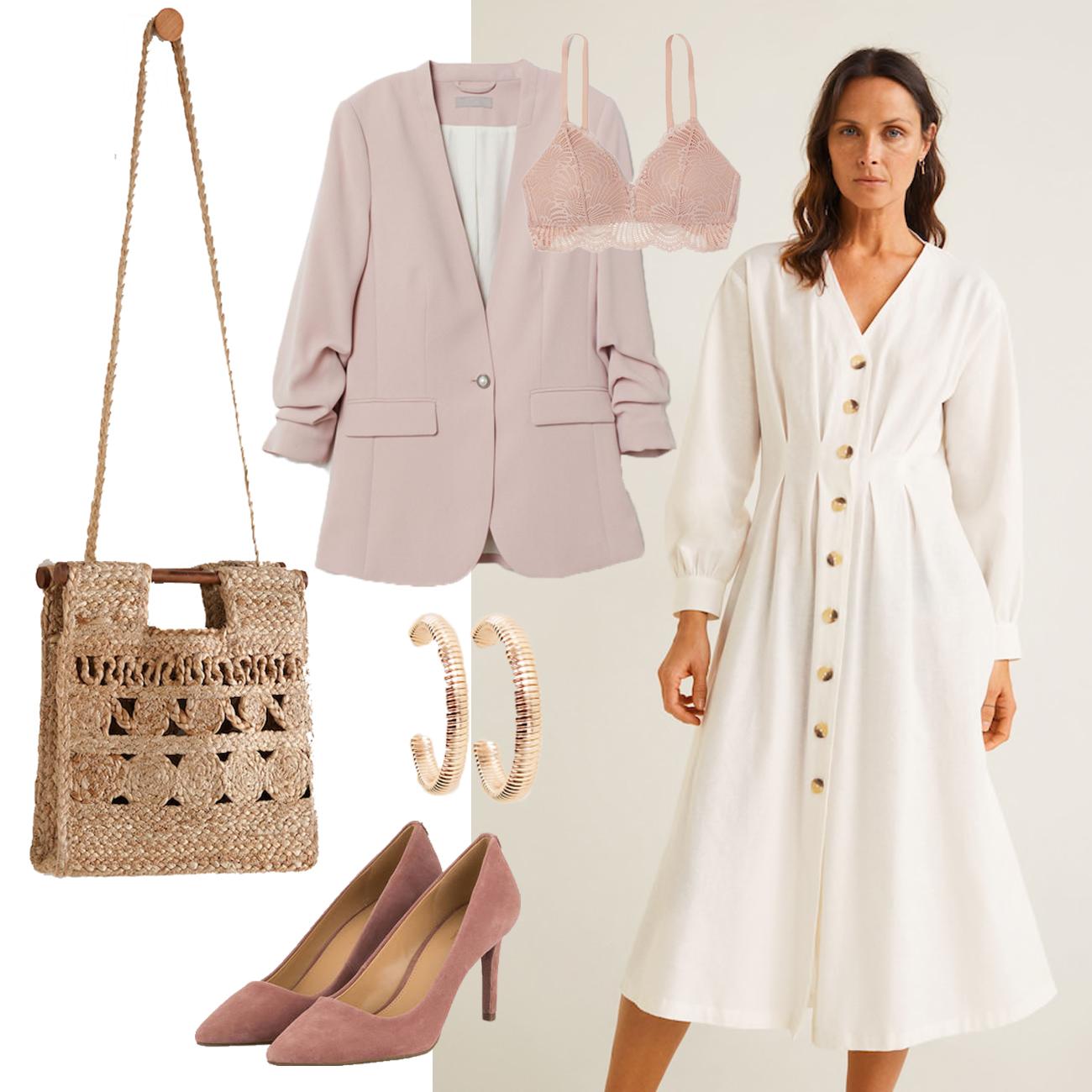 Valentinstag Outfit mit Kleid und Blazer