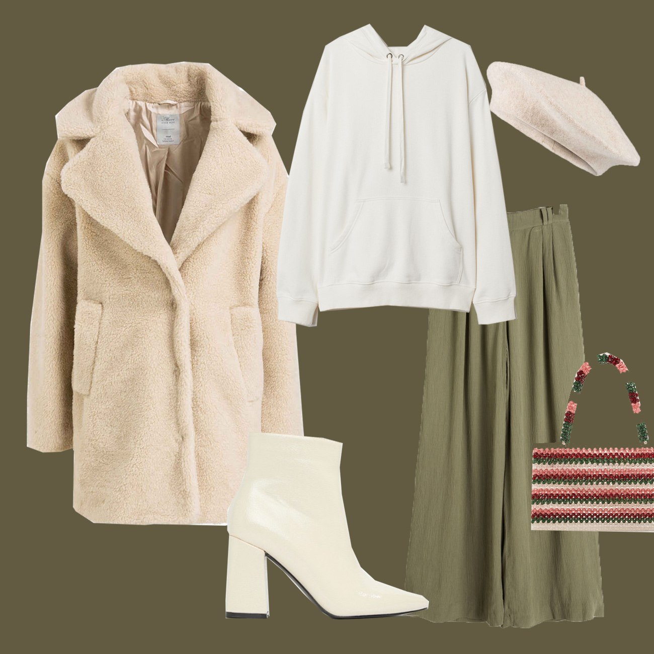 Winter Outfit mit Teddy Coat