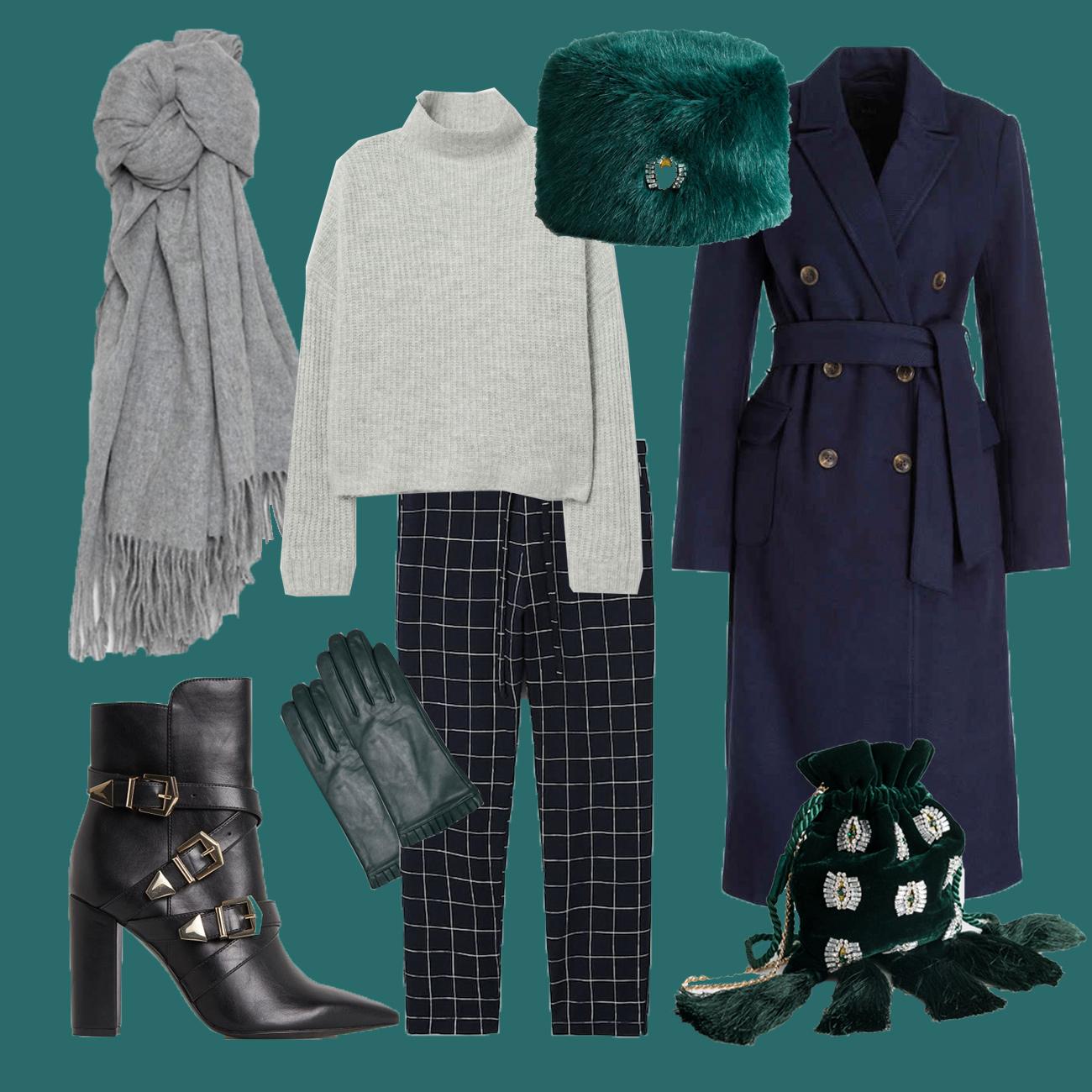Winter Outfit mit Doppelreiher Blazer