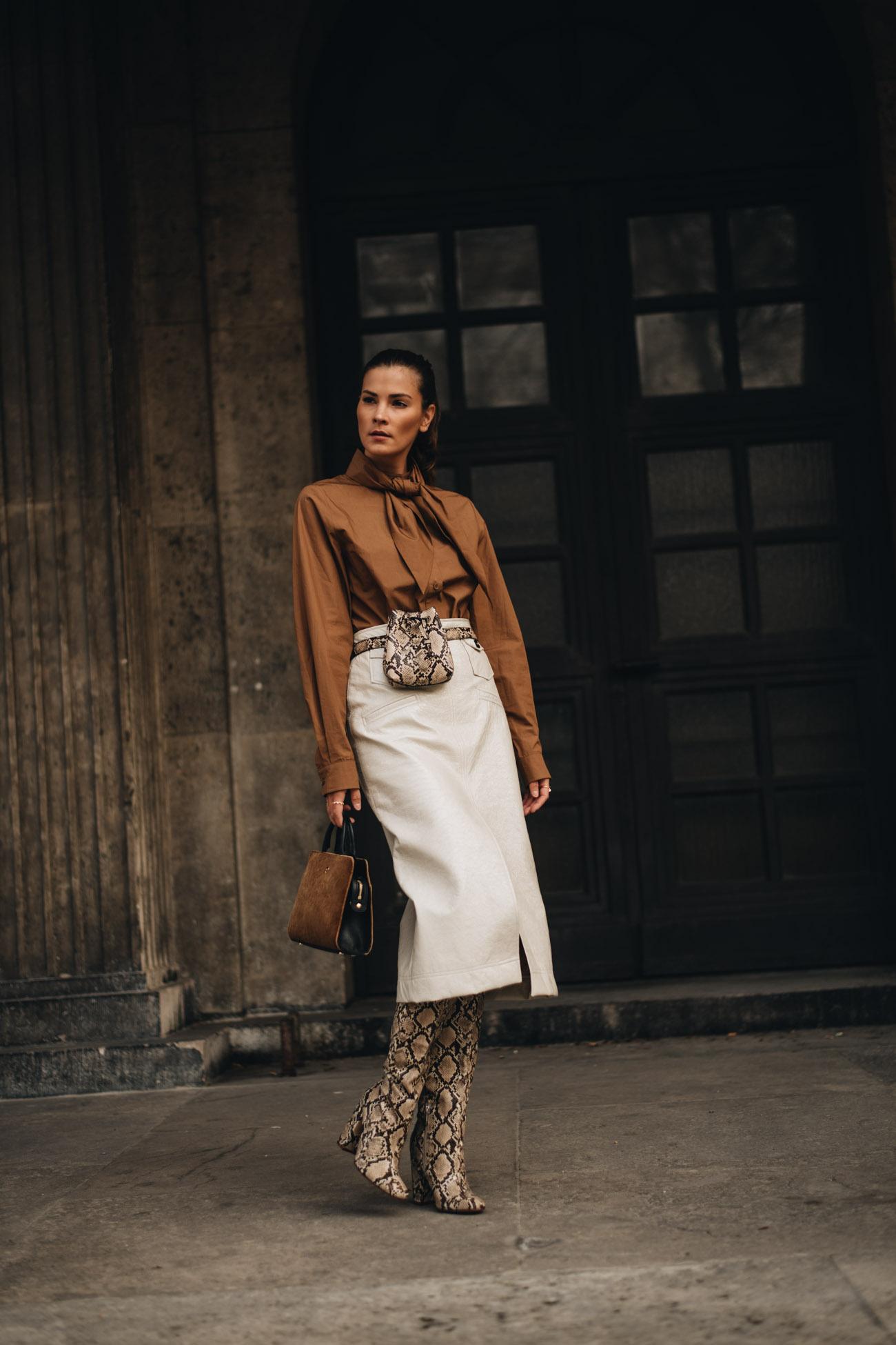 Frühlings Outfit mit Midi Skirt