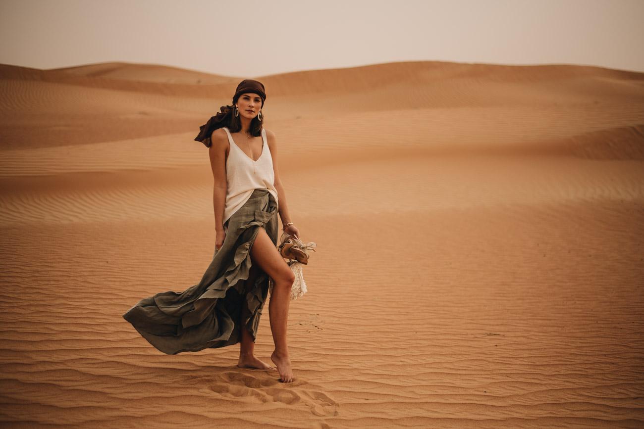 Mode Fotoshooting Wüste