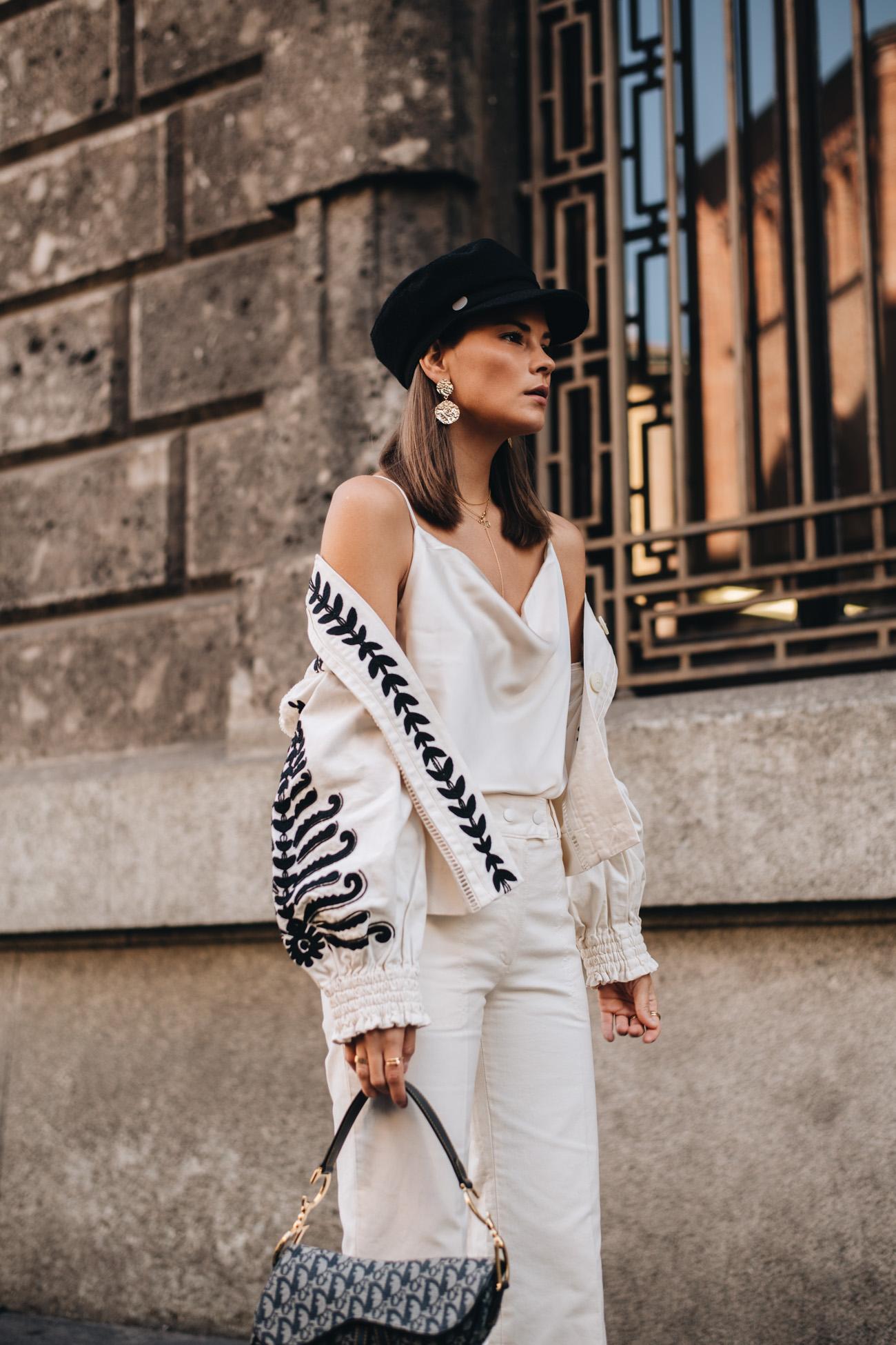 Weißes Outfit für den Sommer