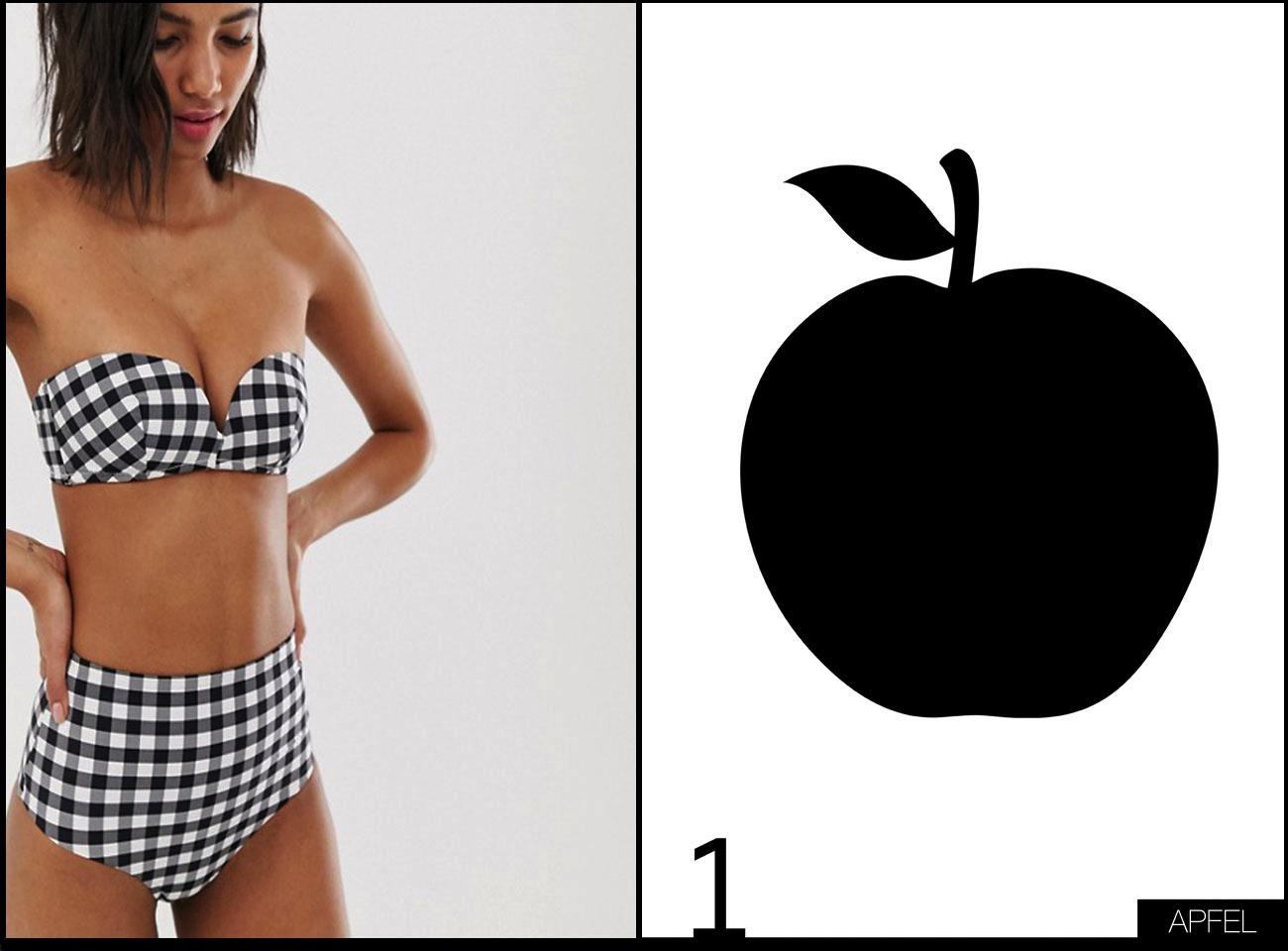 Bikini Bademode für Apfel Figur
