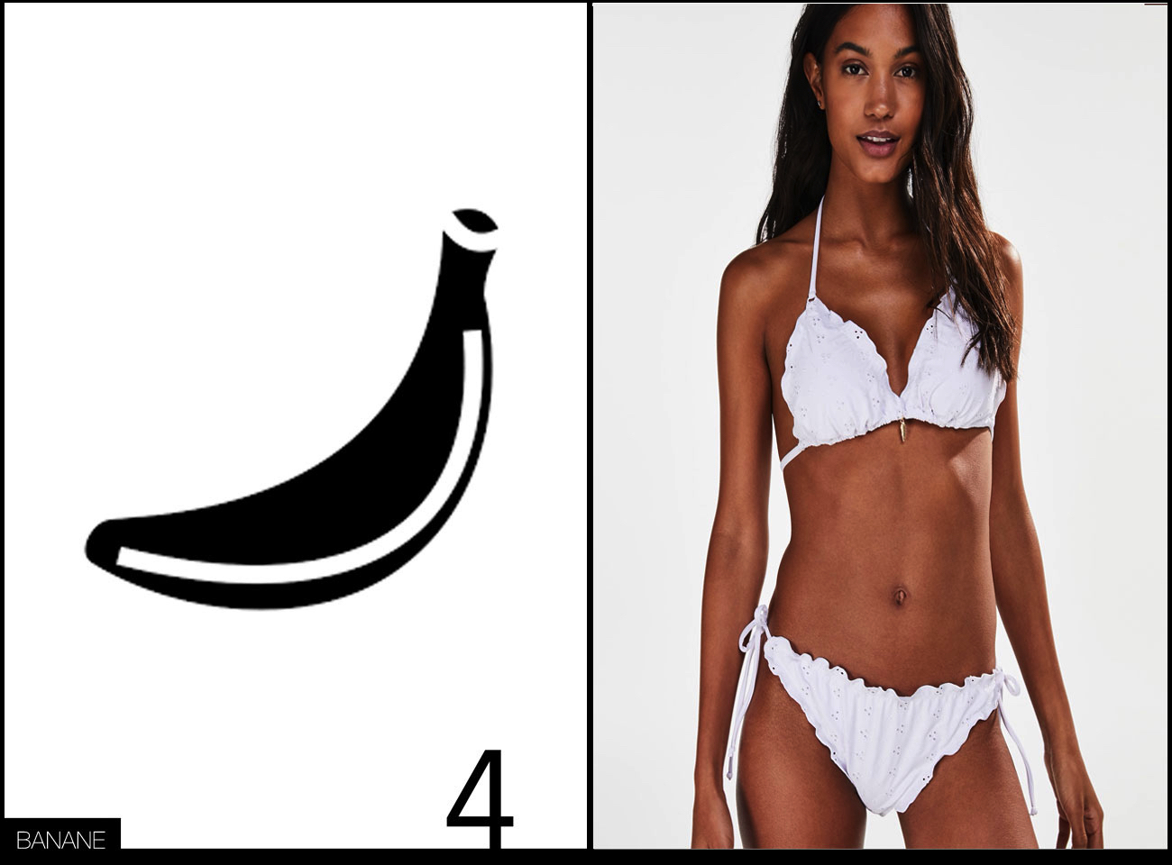 Bikini Bademode für Bananen Figur