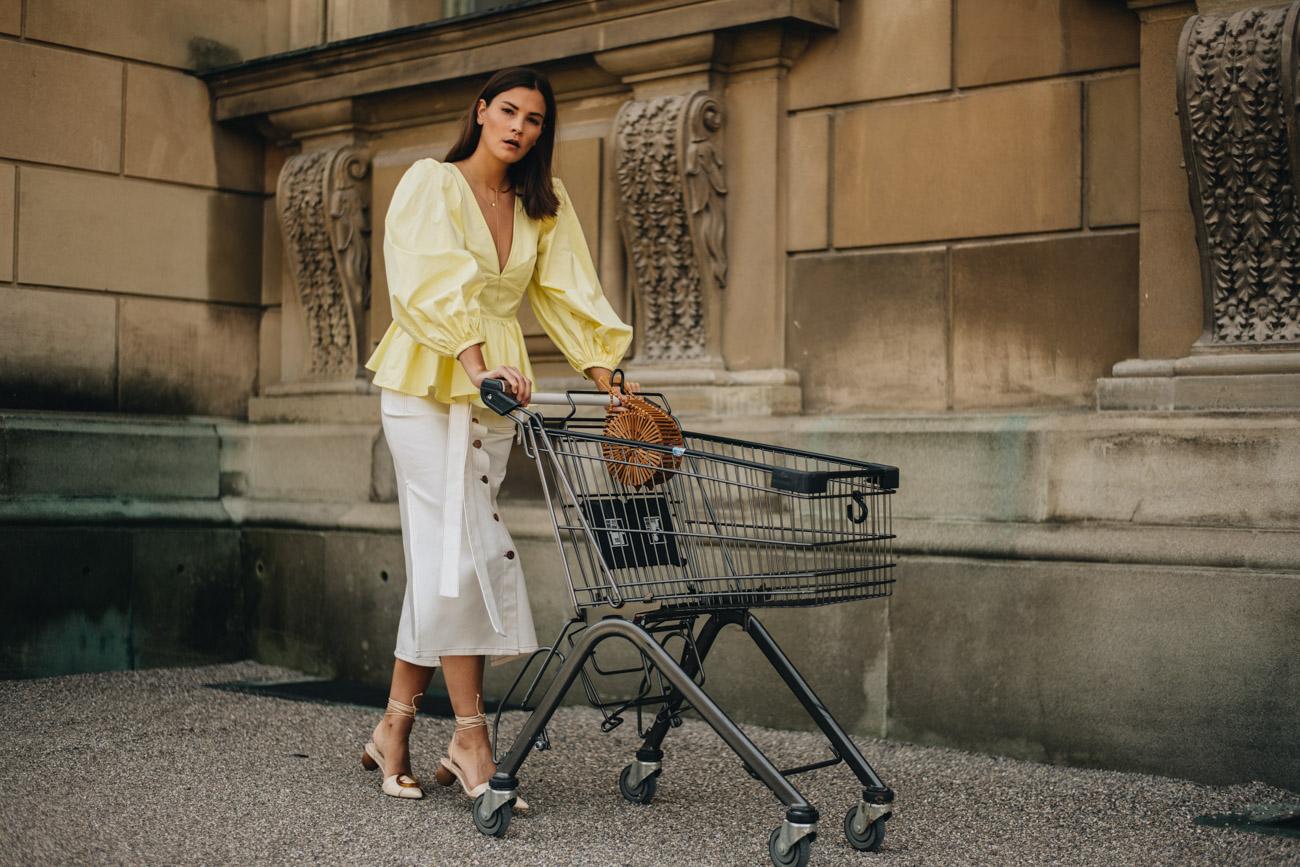 Fashion Editorial Einkaufswagen
