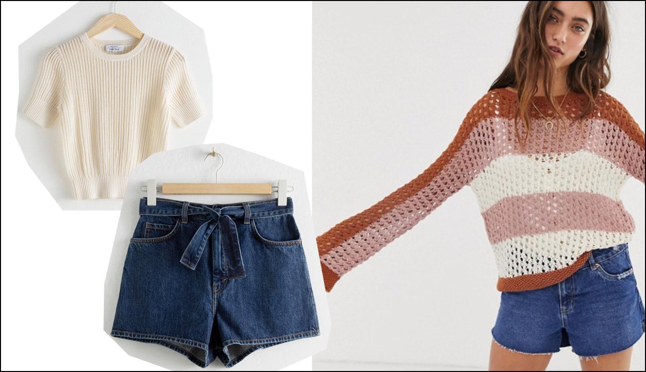 Kurze Shorts kombinieren