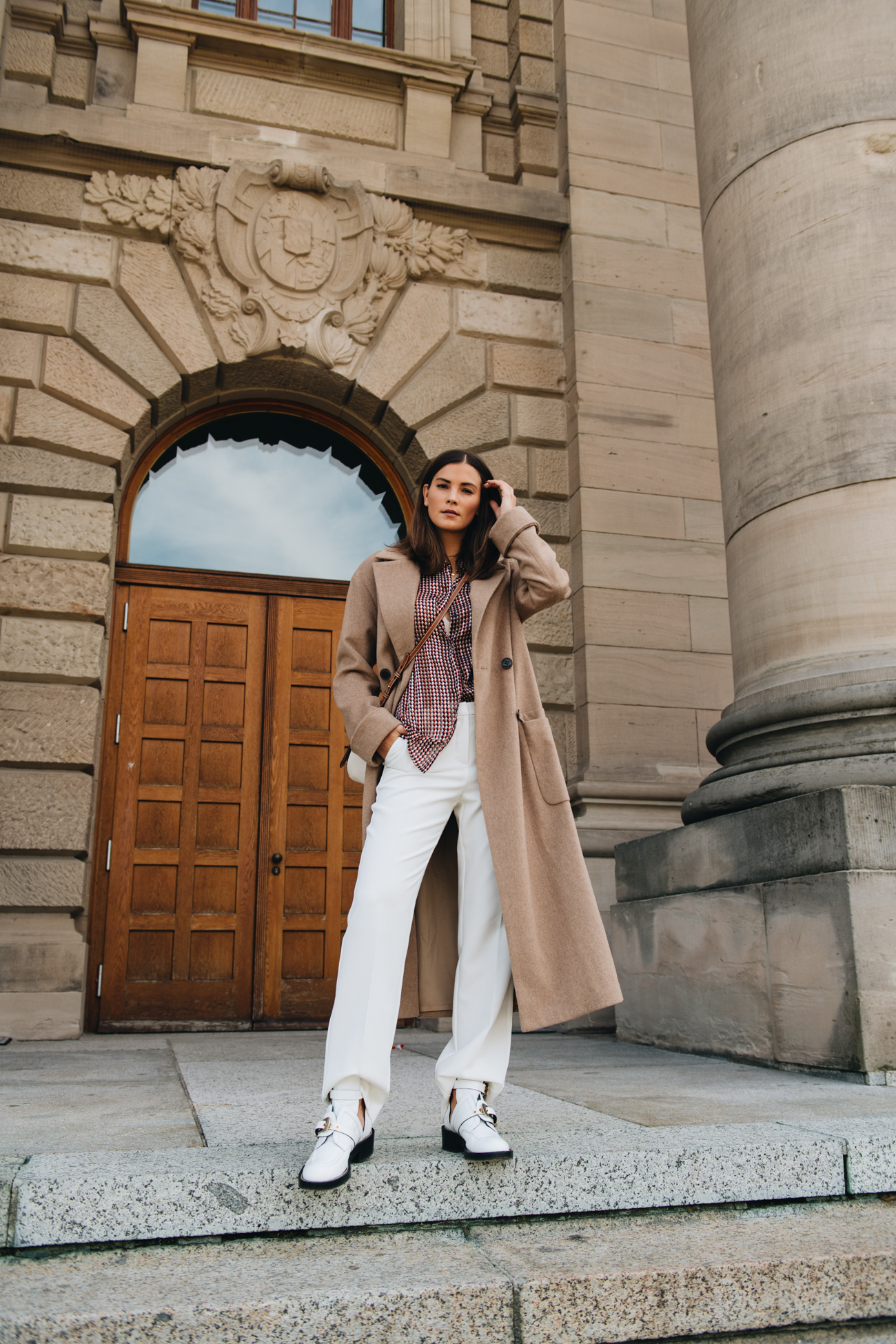 Herbst Outfit mit Camel Coat